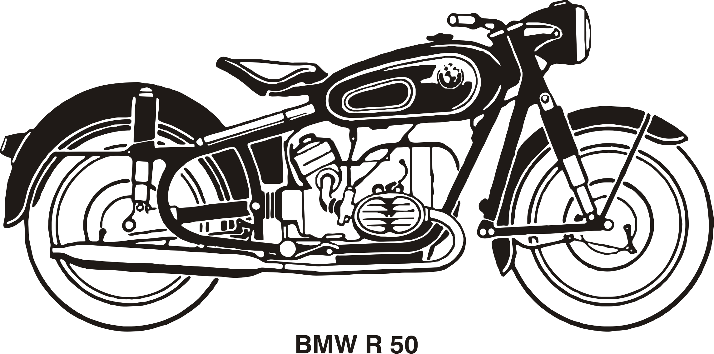 Clipart Bmw R50 Year 1958