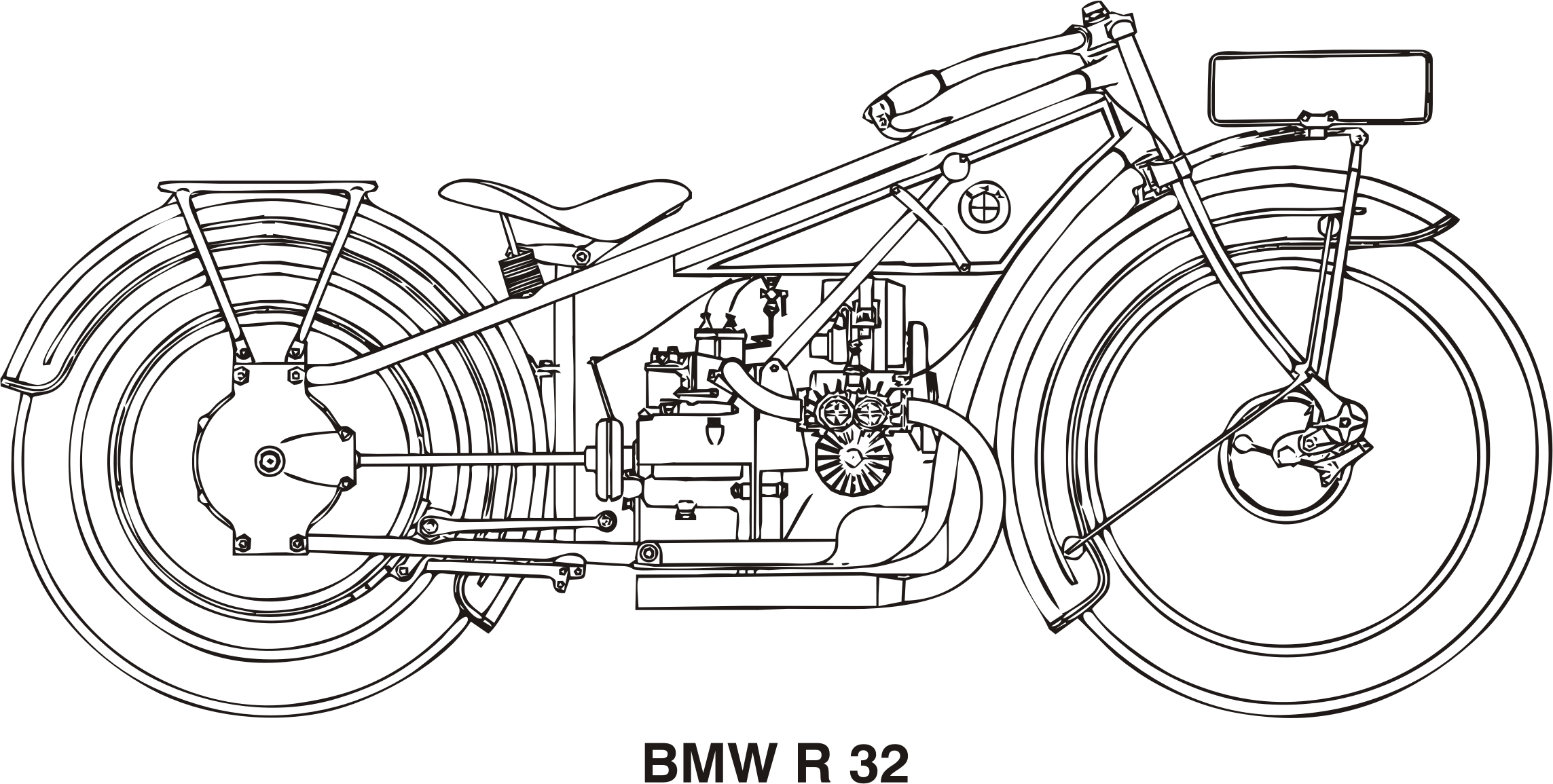 BMW R32, year 1923 by Vanja