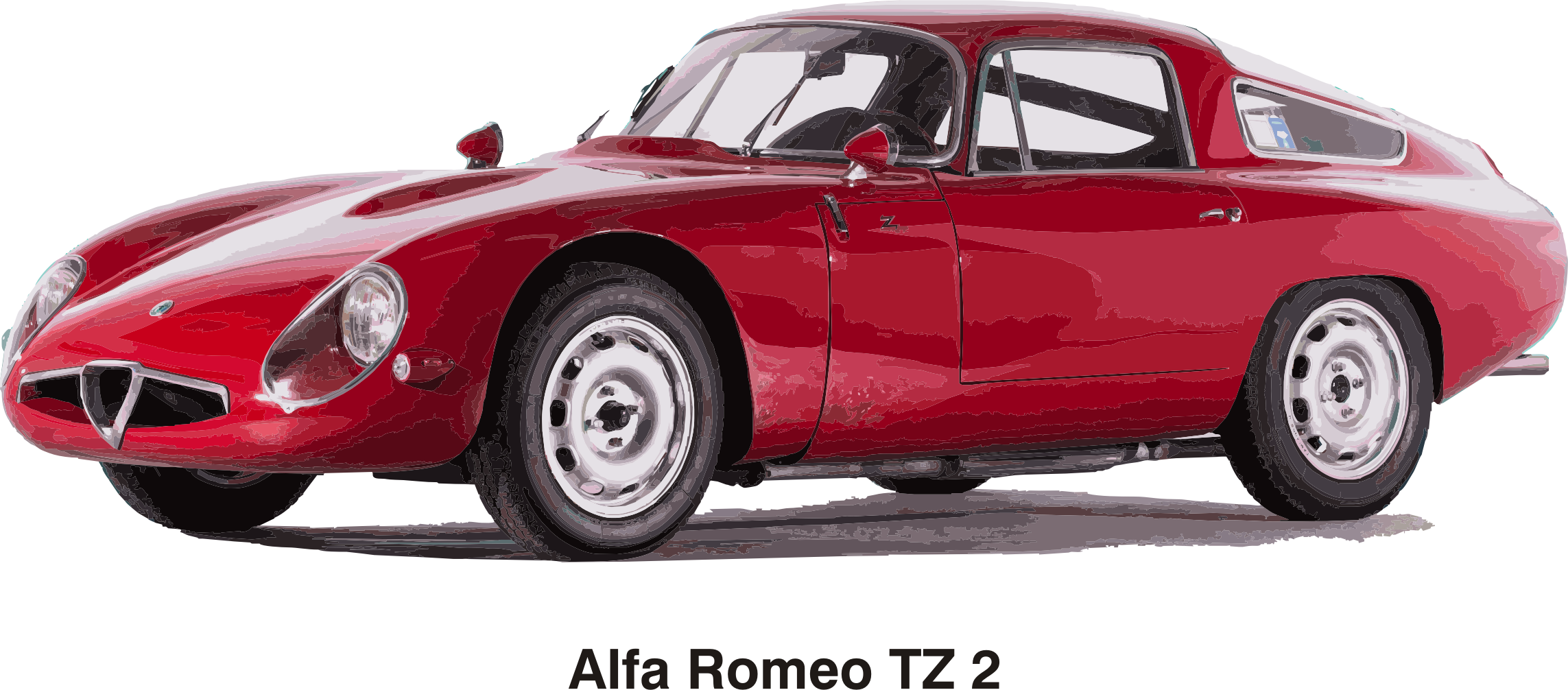 Alfa Romeo TZ2, year 1965 by Vanja