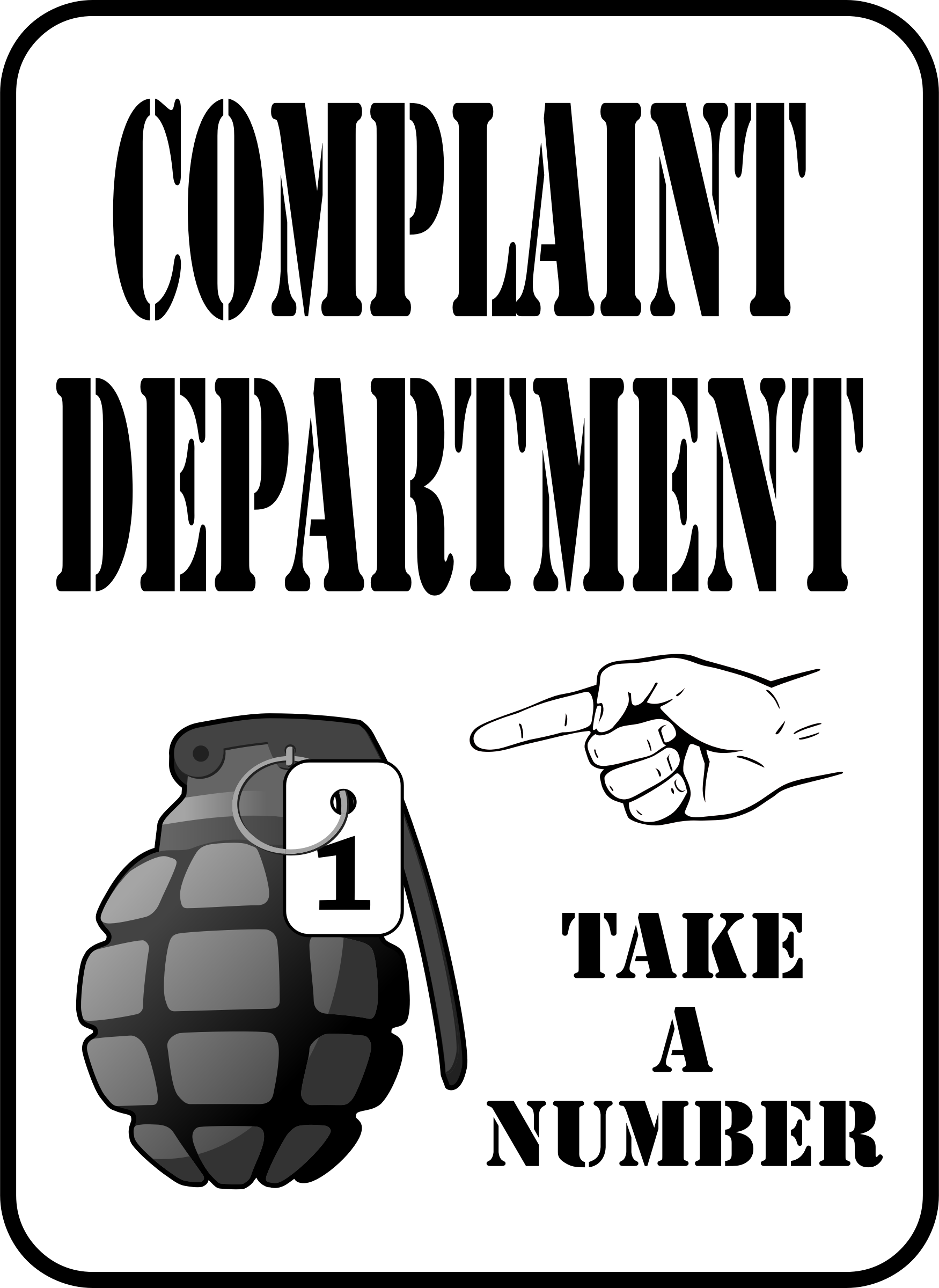 Complaint Department (Daily Sketch 49) by GDJ