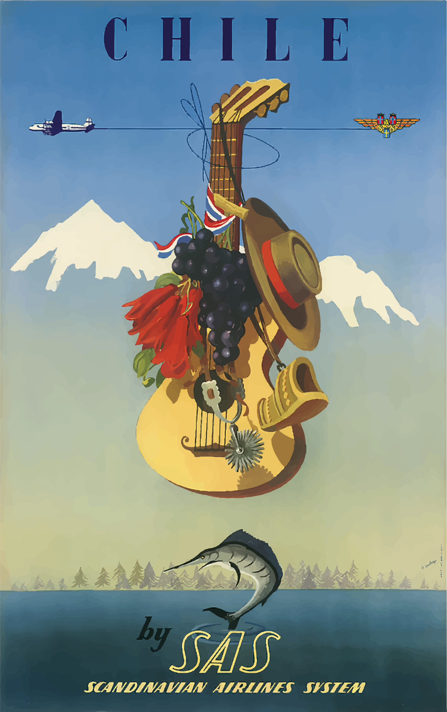 Vintage Travel Poster Chile by GDJ