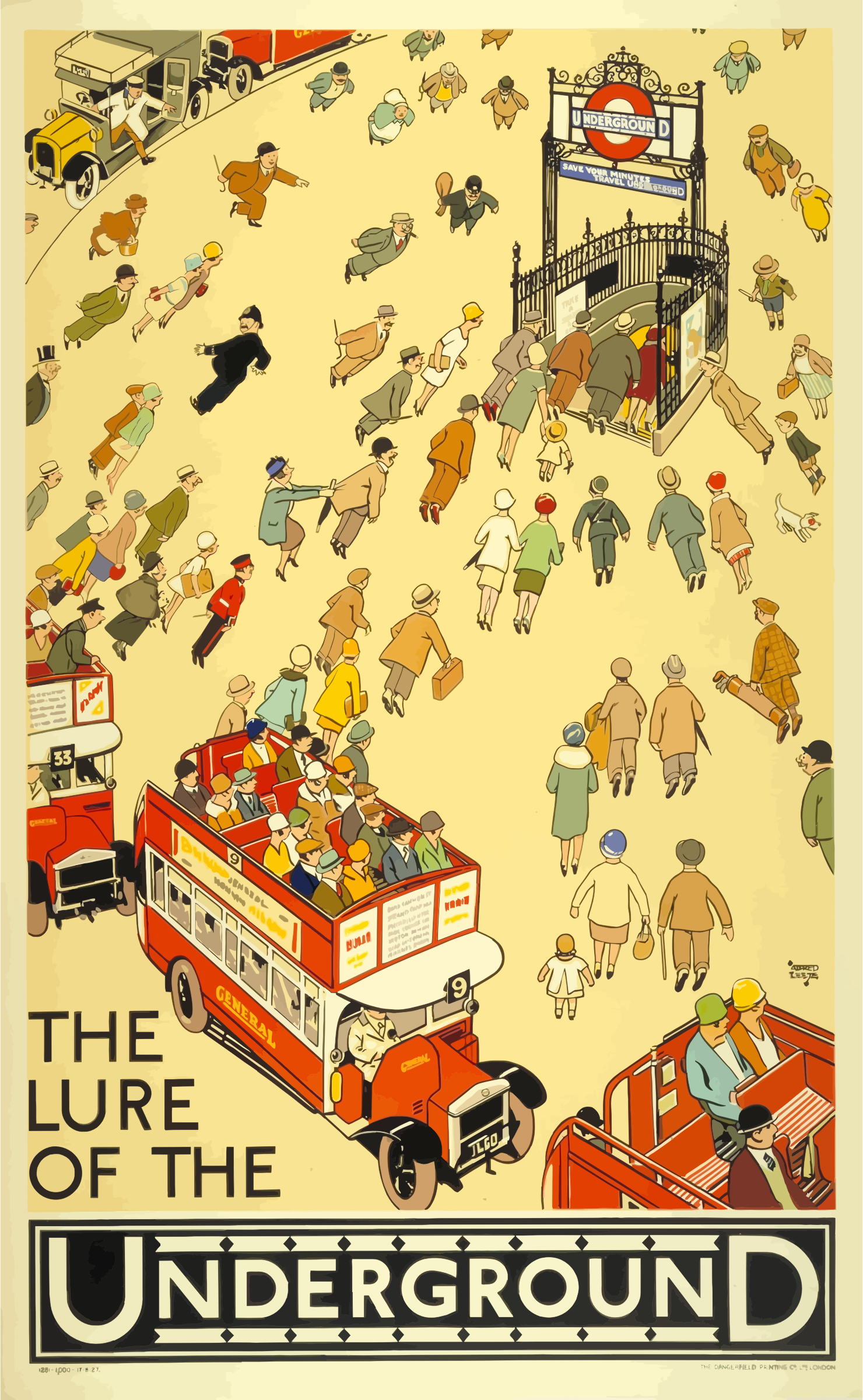 Vintage Travel Poster London Underground by GDJ