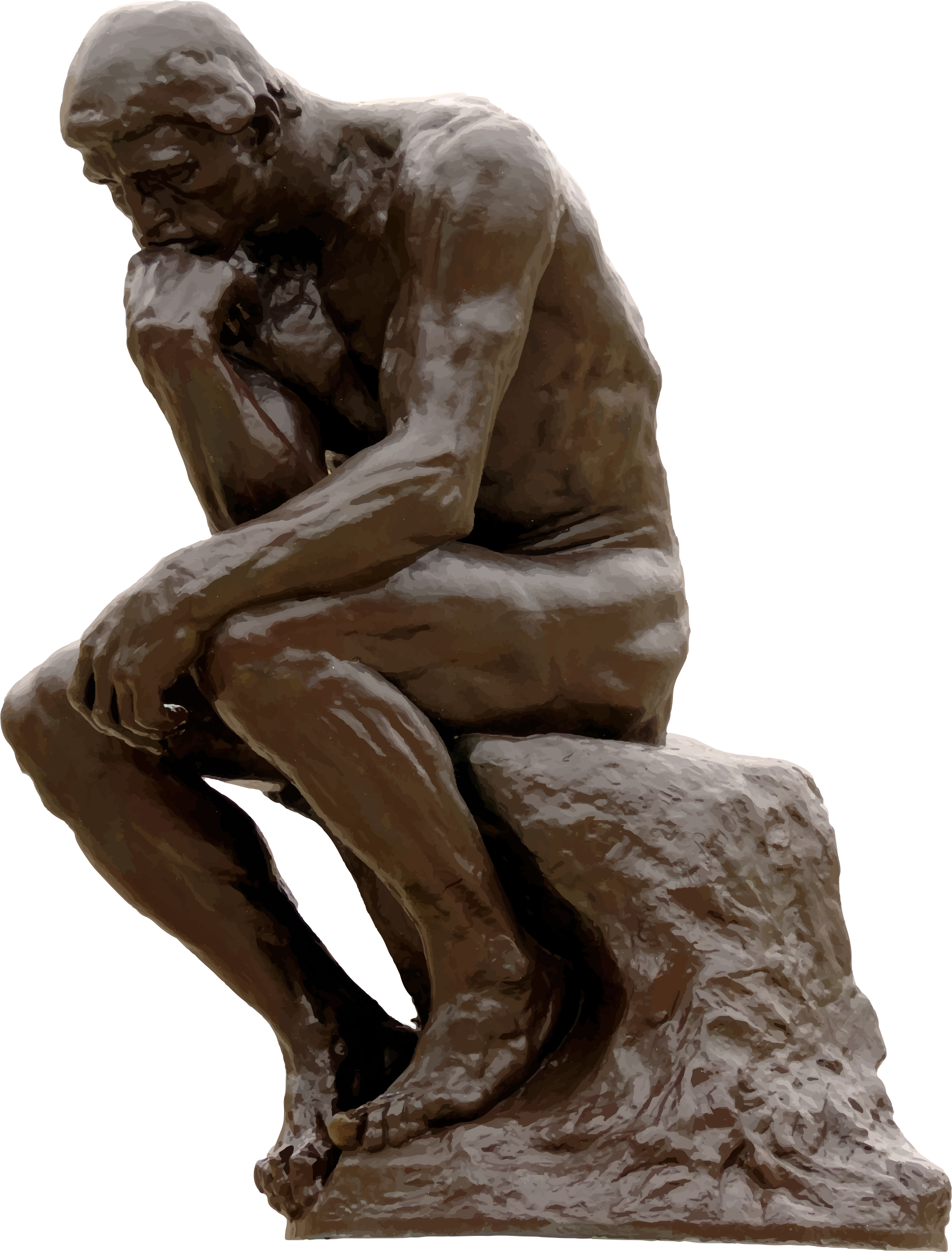 Clipart - The Thinker