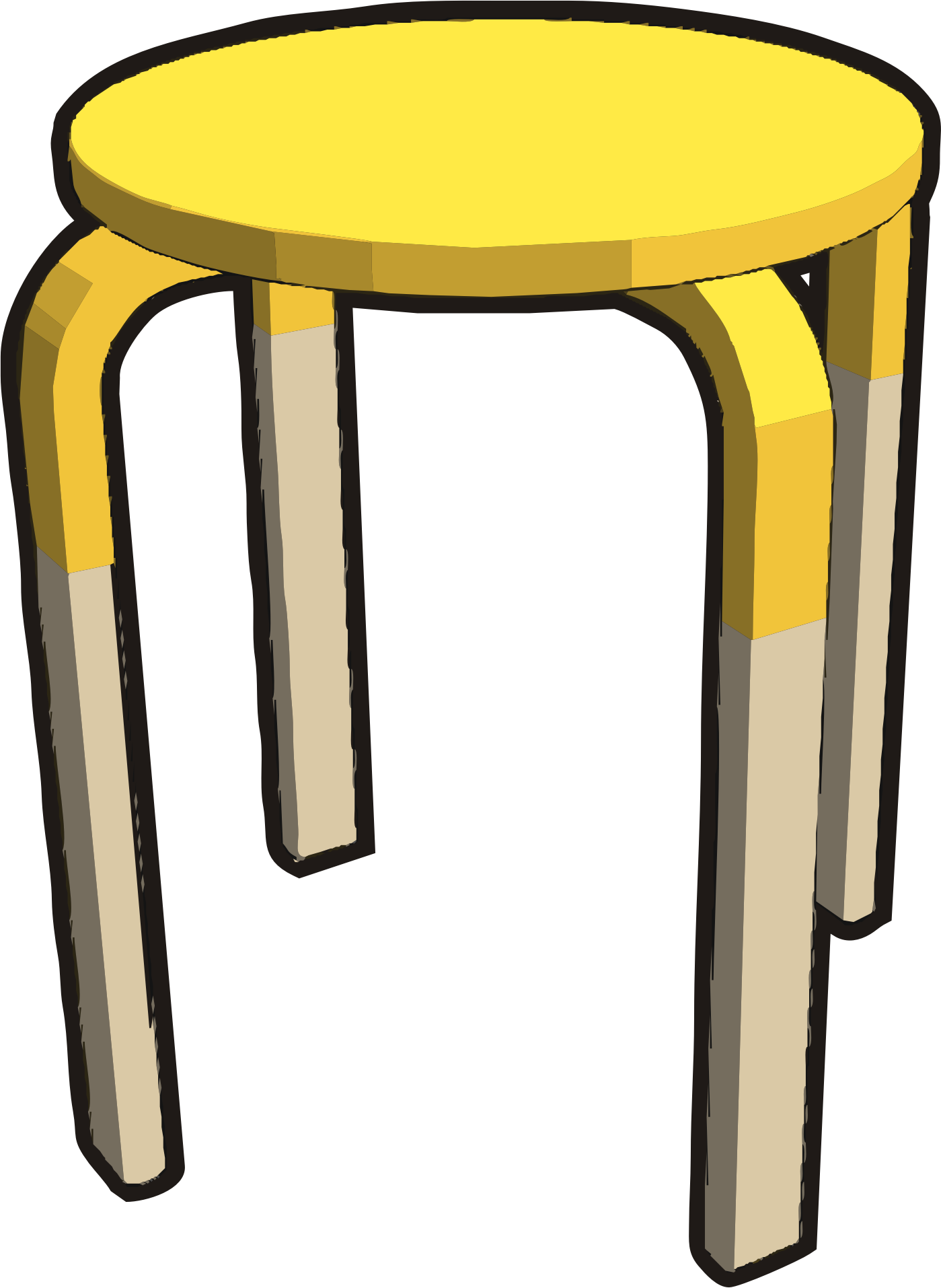 Ikea stuff - Frosta stool, half yellow by Vanja