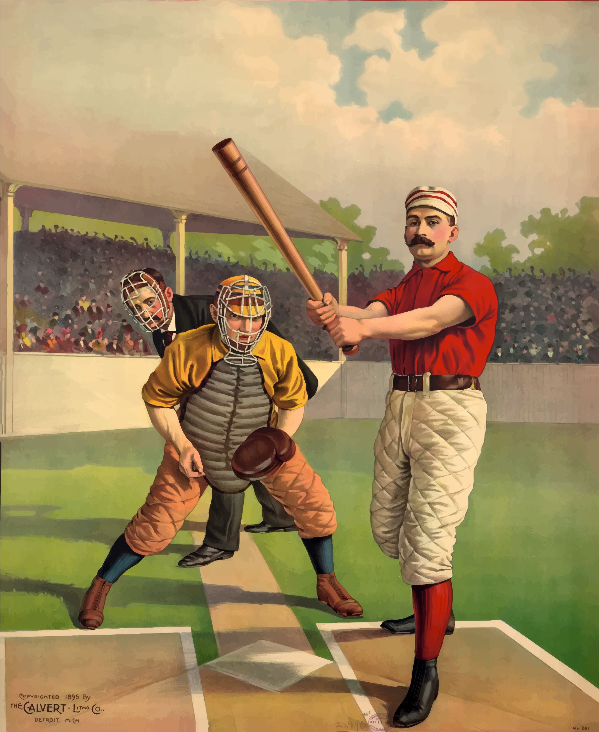 Vintage Baseball Poster by GDJ