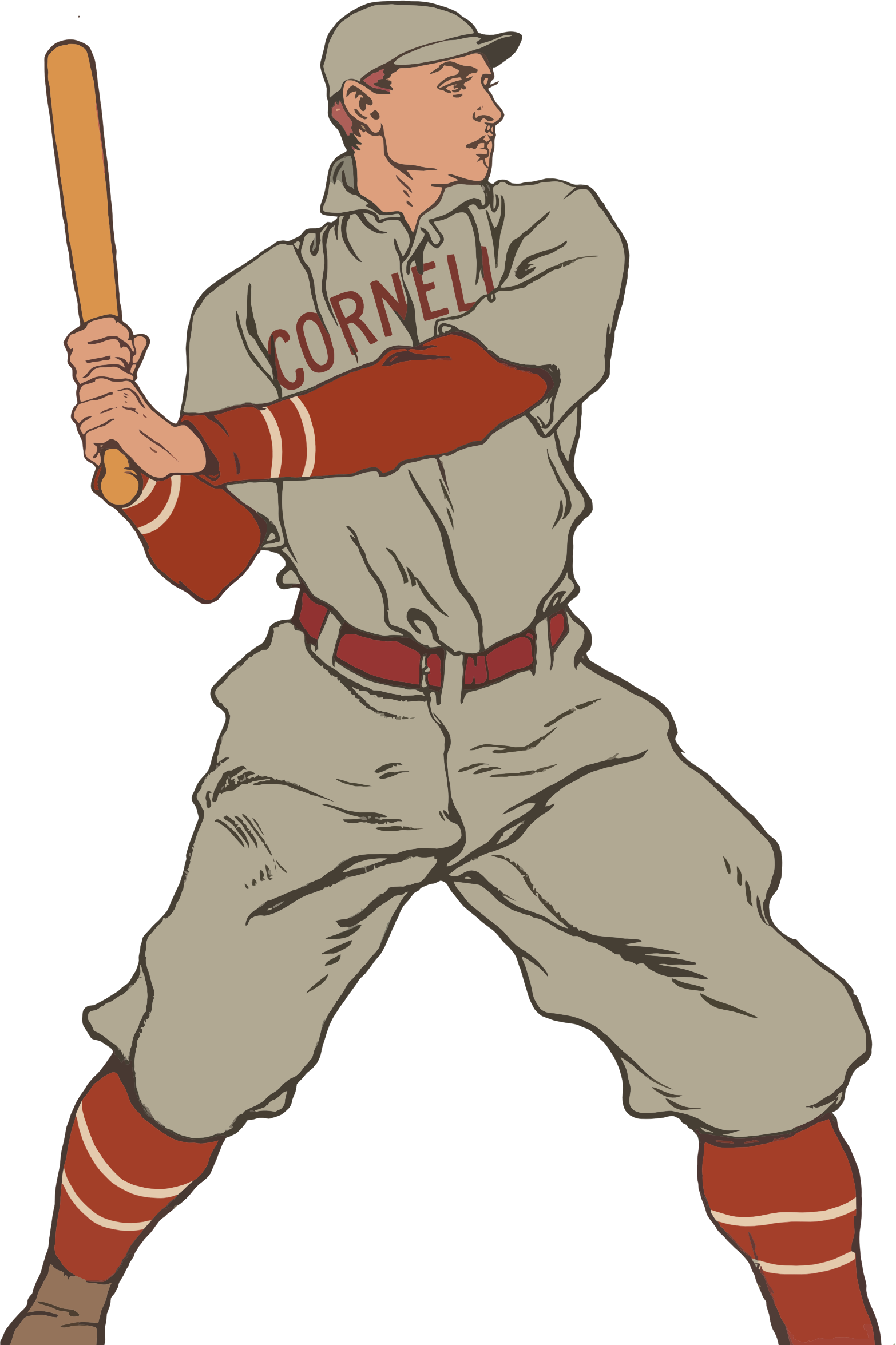 Clipart - Vintage Baseball Player