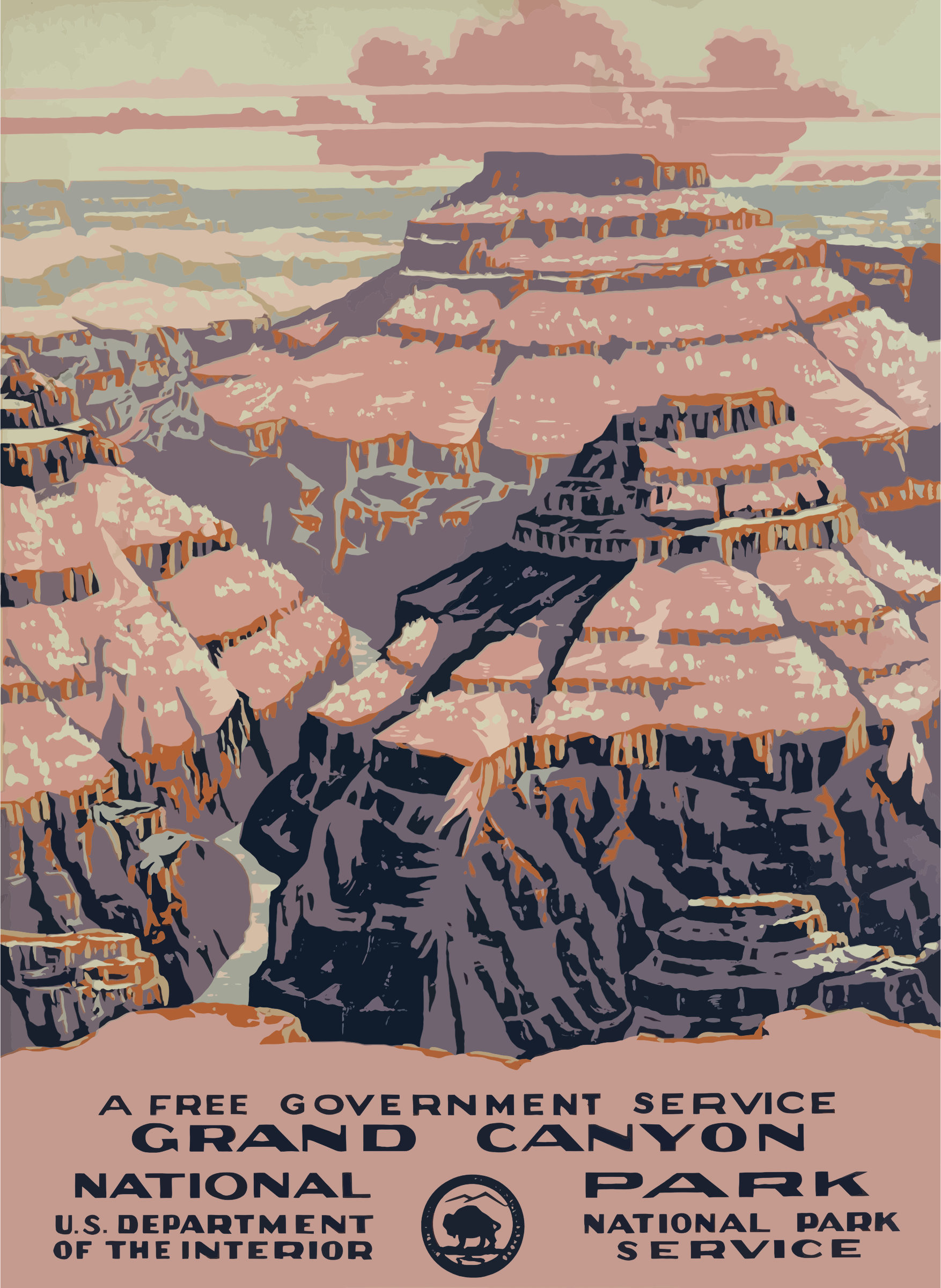 Vintage Travel Poster Grand Canyon by GDJ