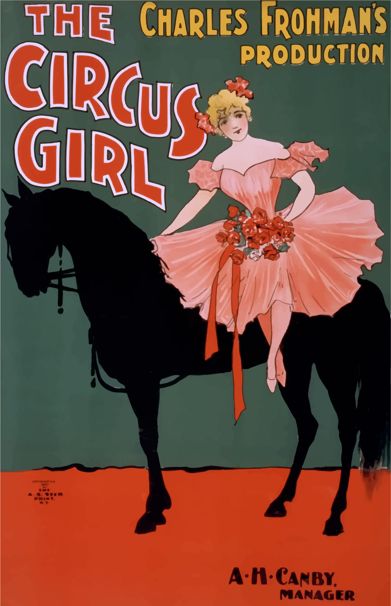 Vintage Circus Girl Poster by GDJ