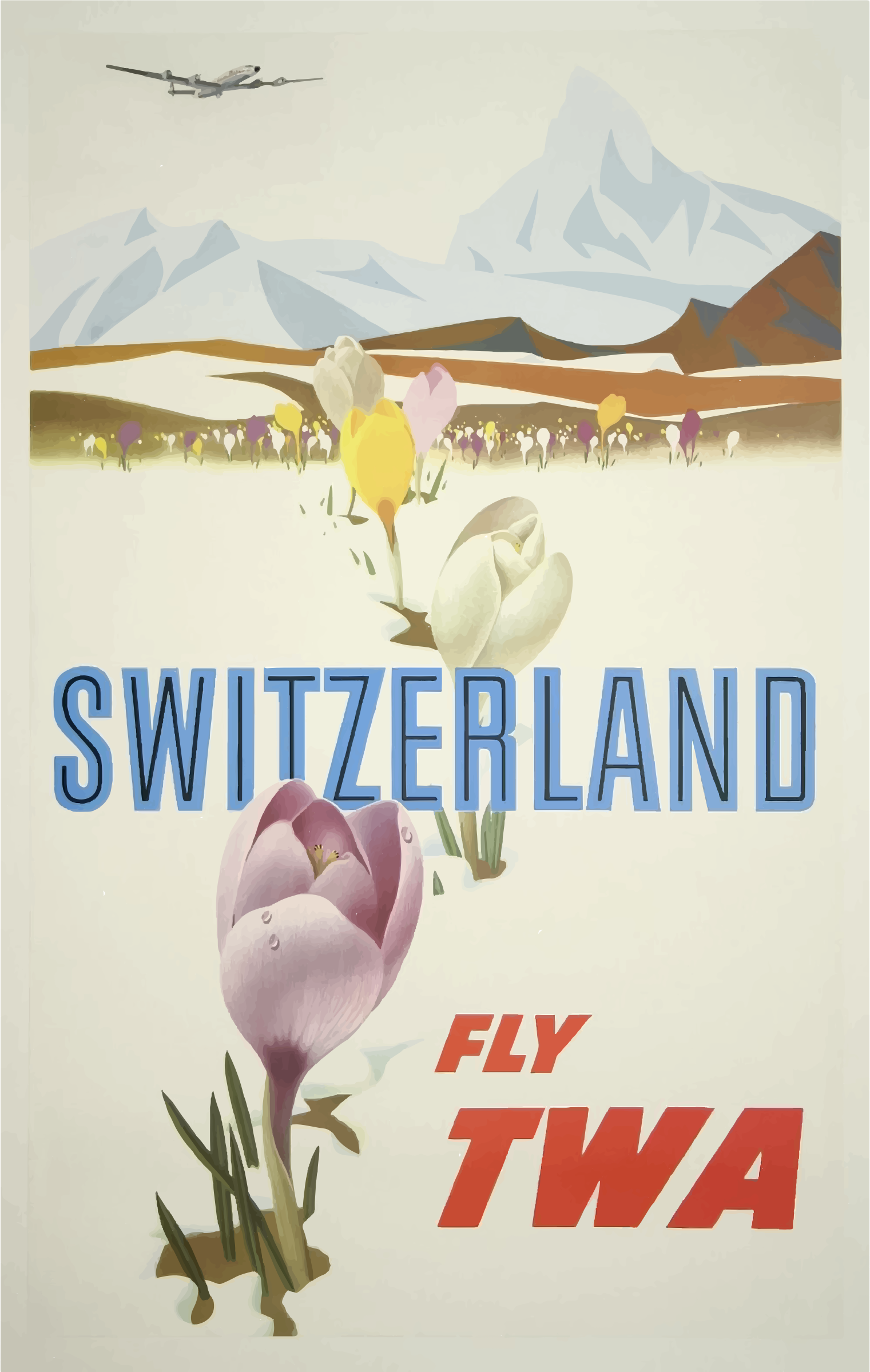 Vintage Travel Poster Switzerland 2 by GDJ