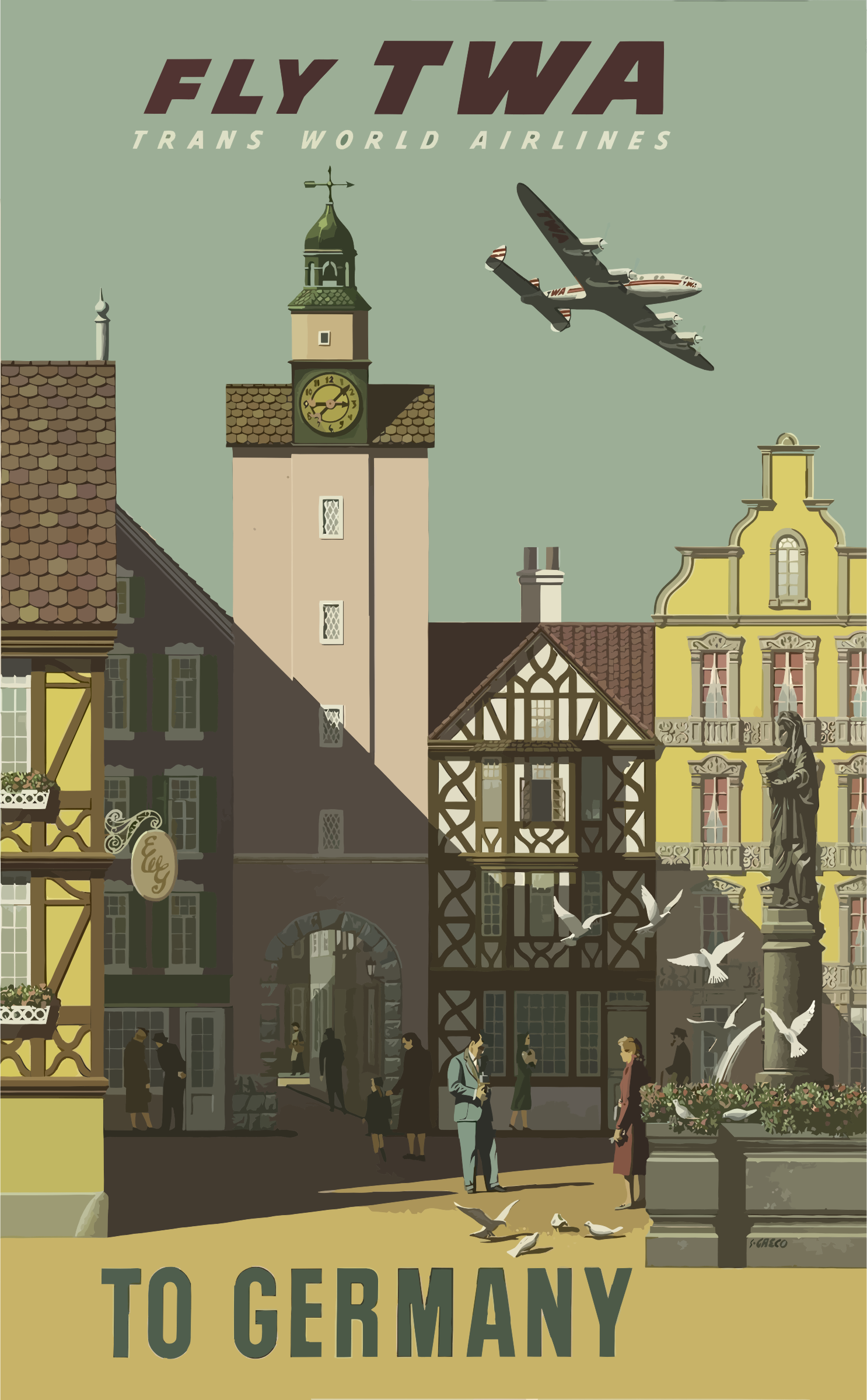 Vintage Travel Poster Germany by GDJ
