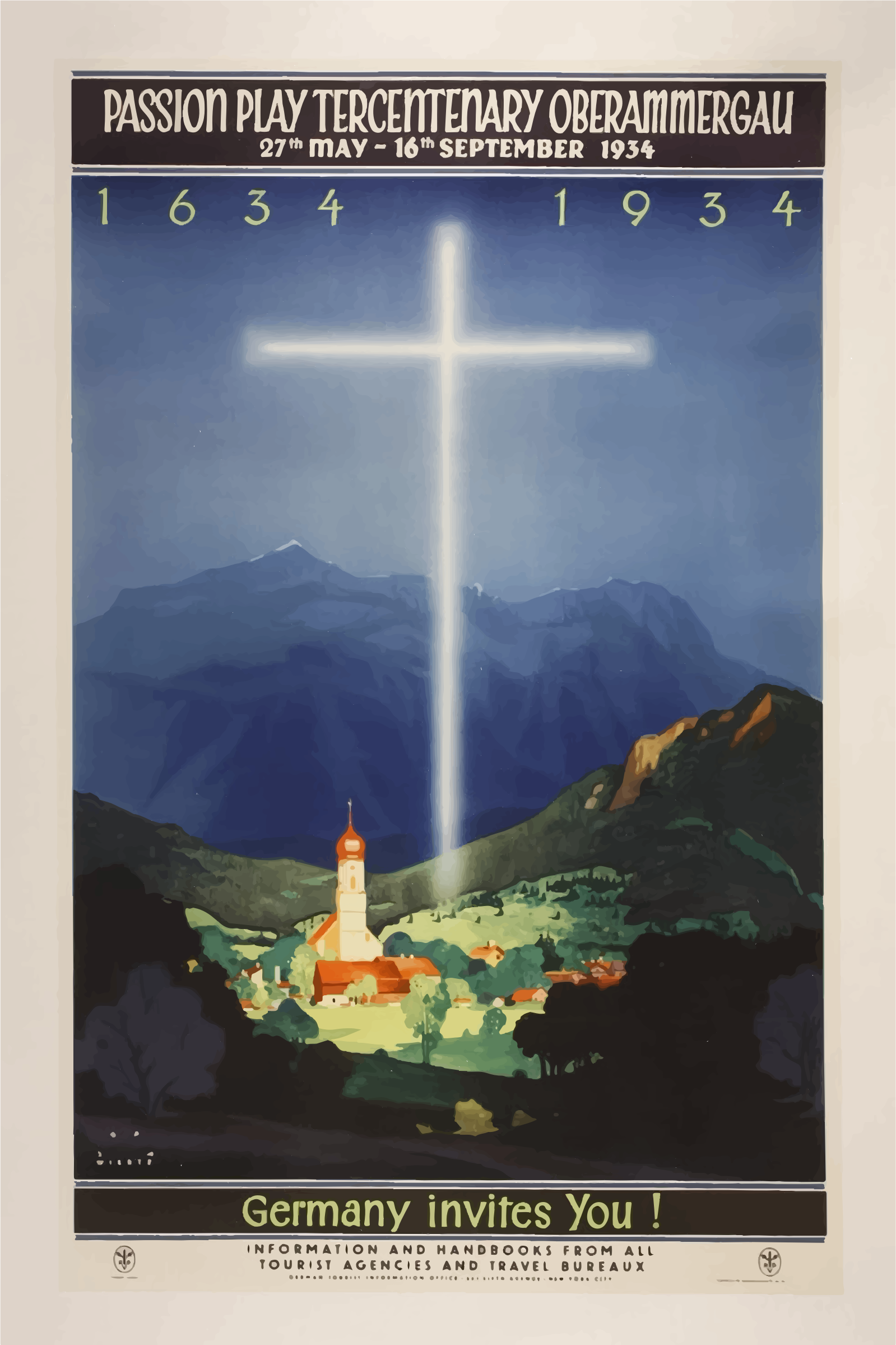 Vintage Travel Poster Germany 3 by GDJ