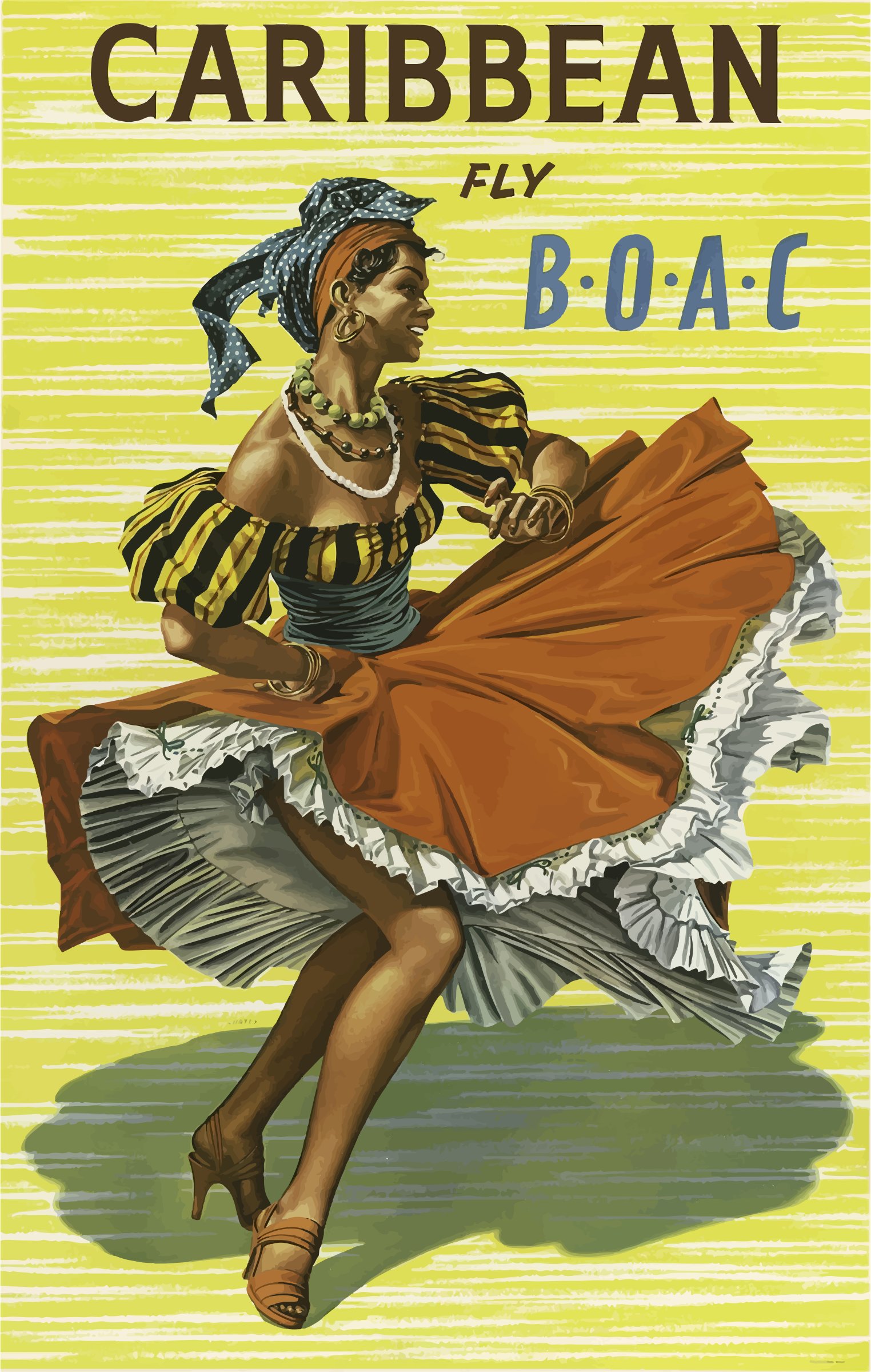 Vintage Travel Poster Caribbean by GDJ