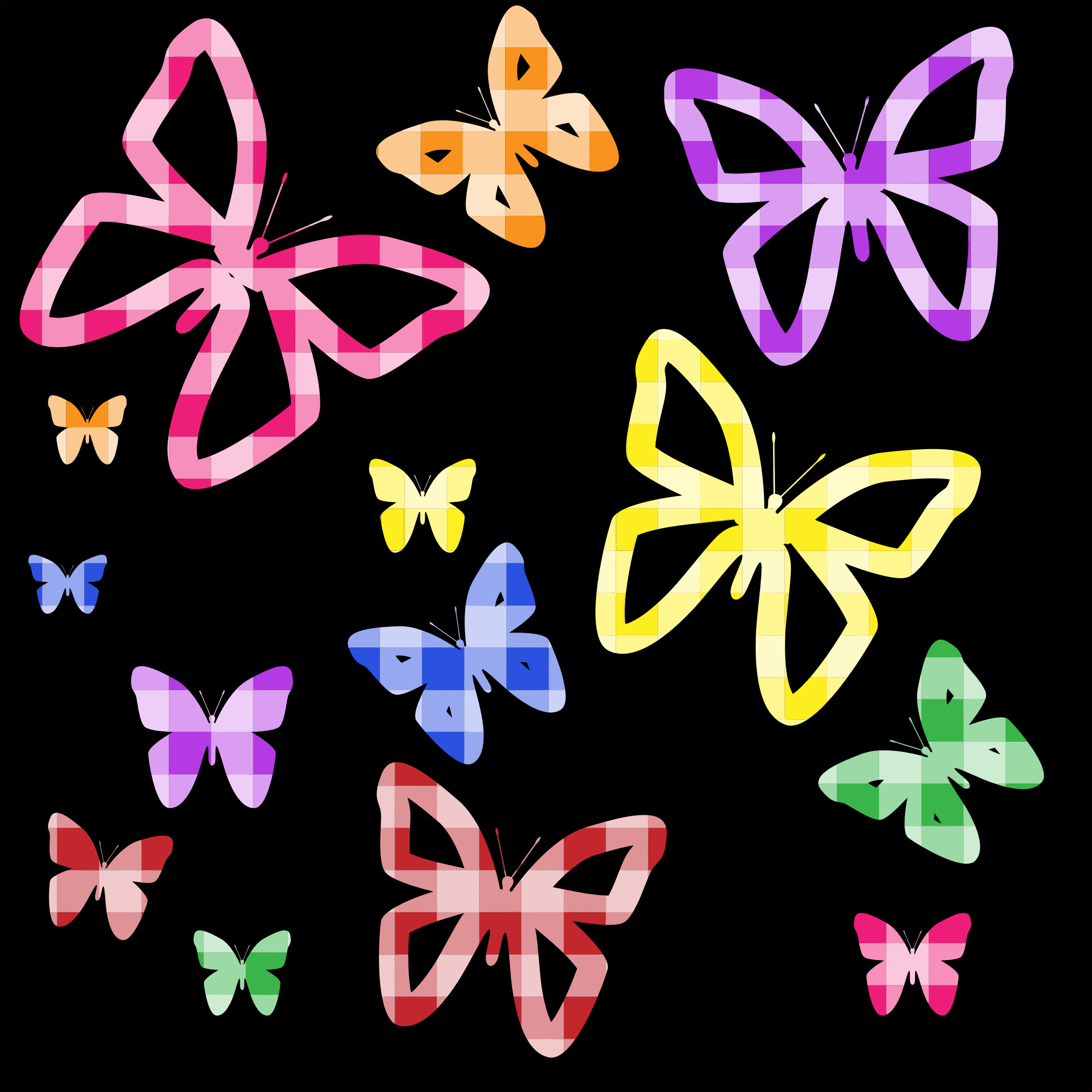 Colorful Butterflies Wallpaper by GDJ