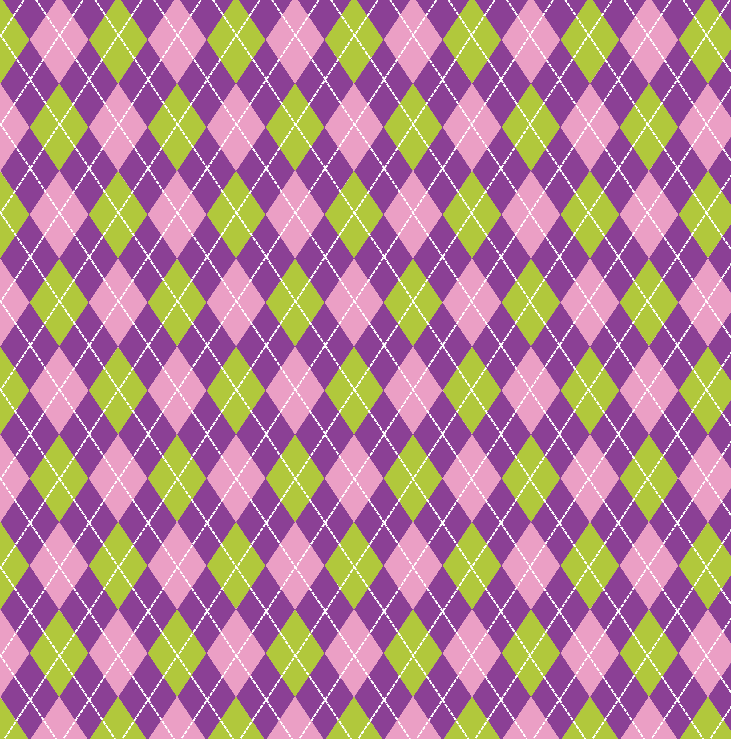 Purple Green Argyle Background by GDJ