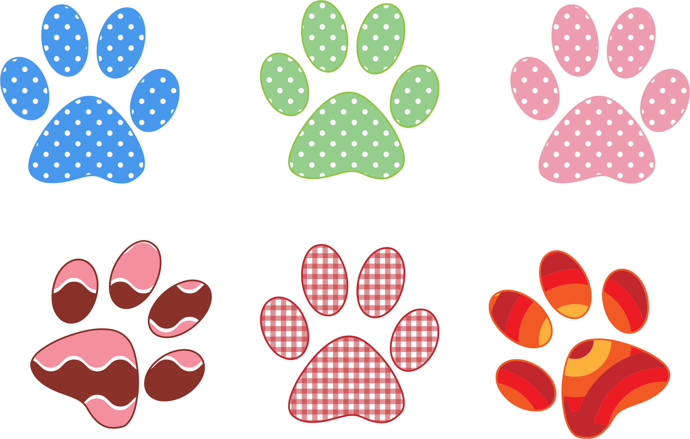 Colorful Paw Prints by GDJ