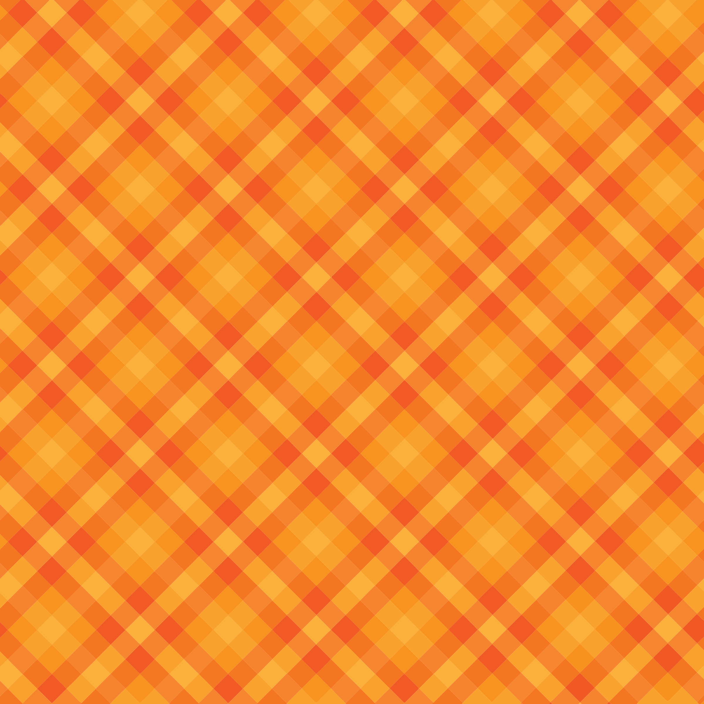 Orange Gingham Checkered Background by GDJ