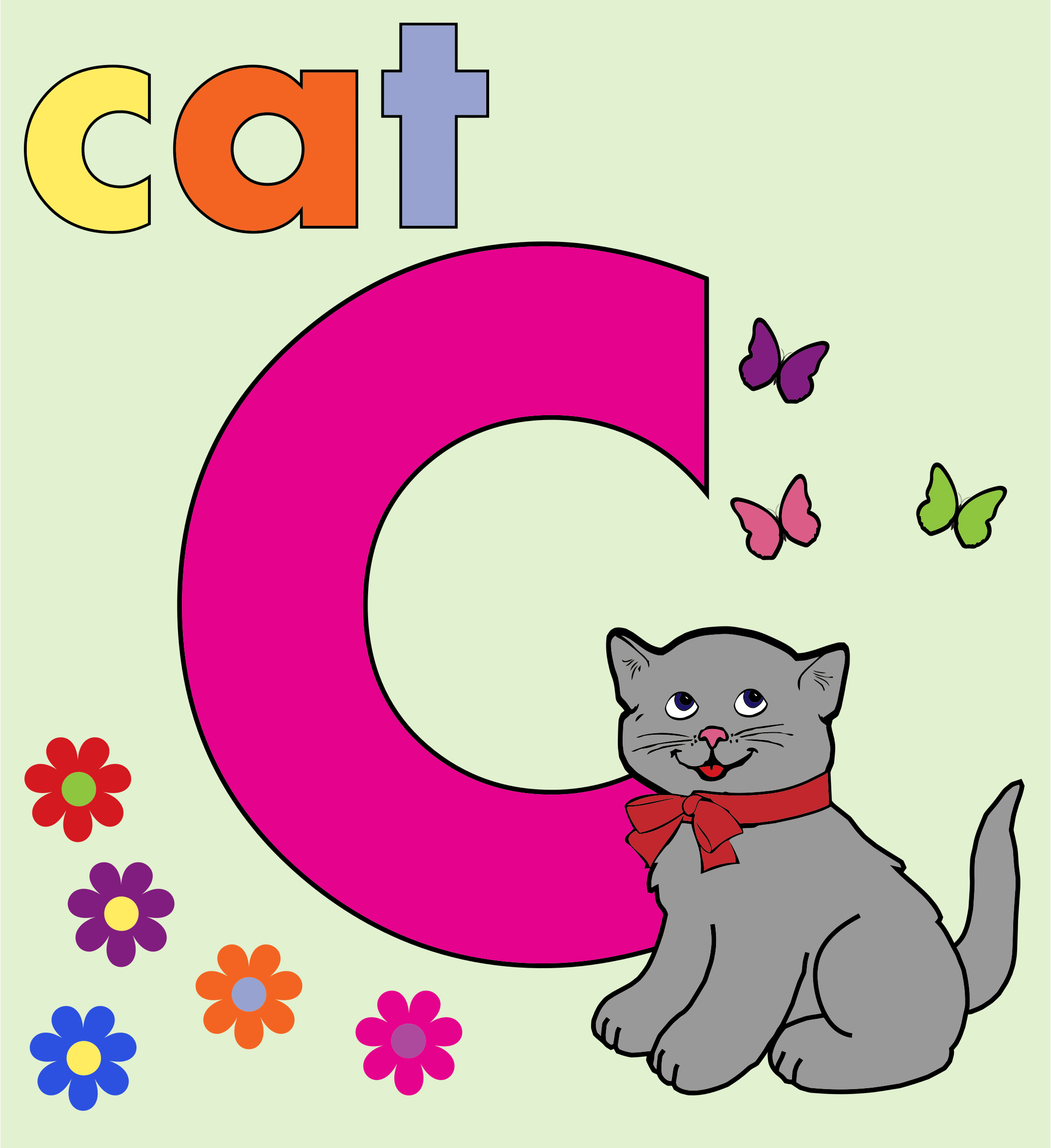 Cat Alphabet Letter C by GDJ