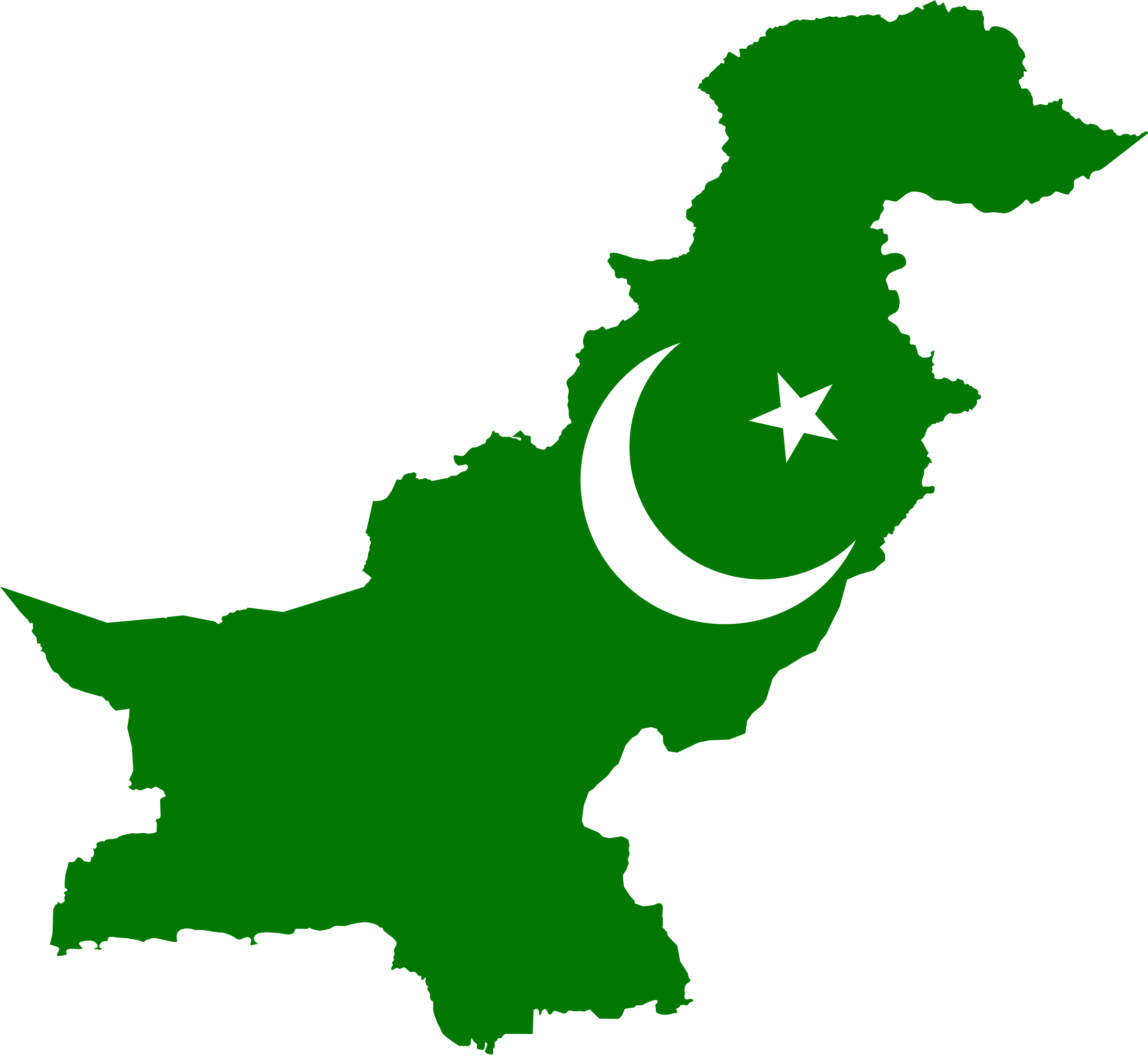 Pakistan Flag Map by GDJ