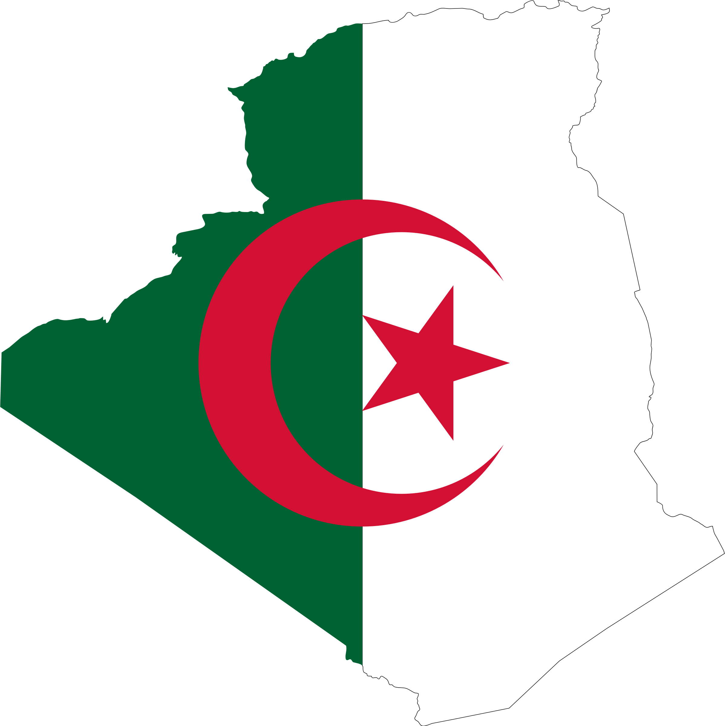 Algeria Flag Map by GDJ