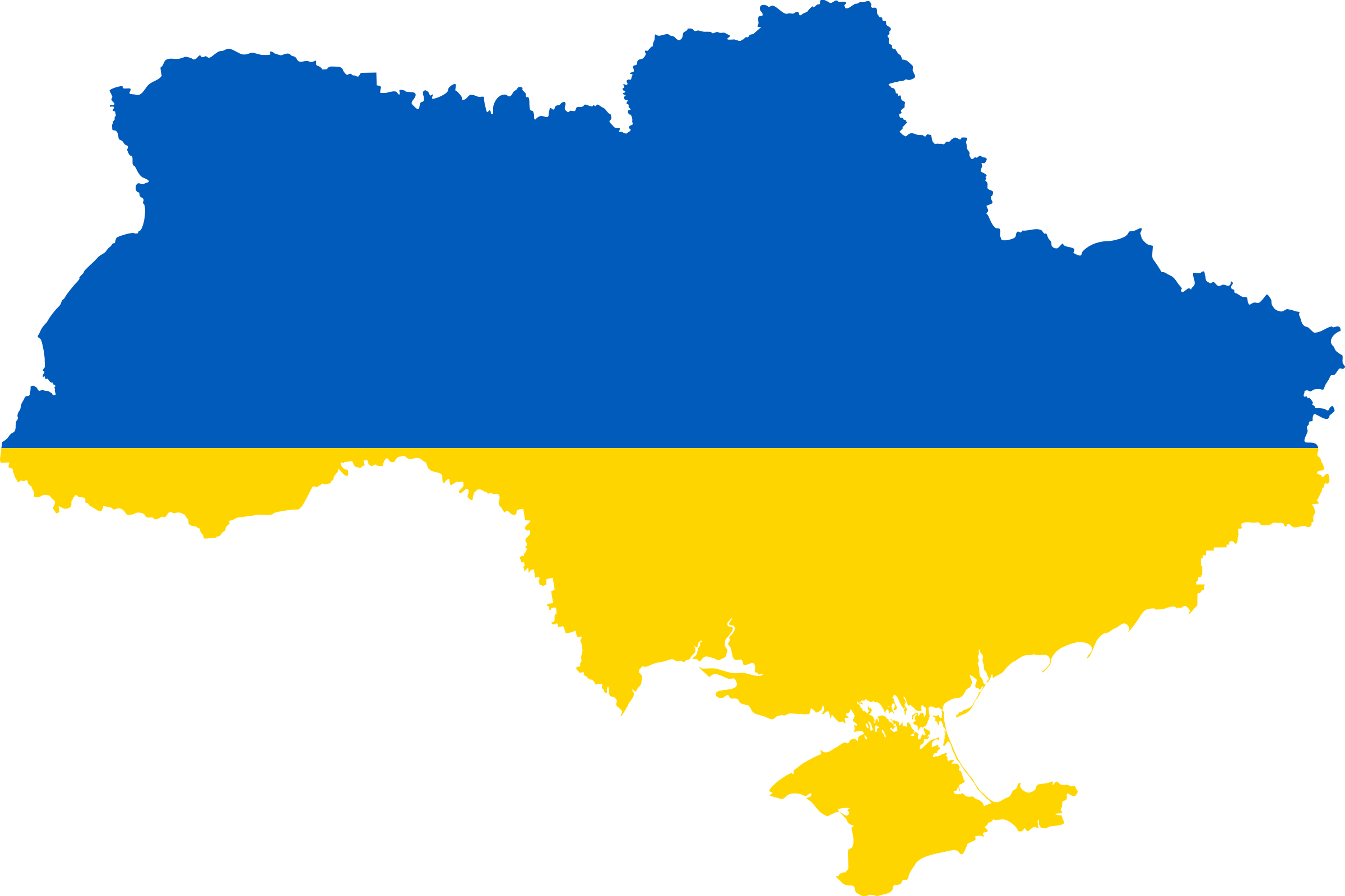 Clipart Ukraine Flag Map - Ukraine map