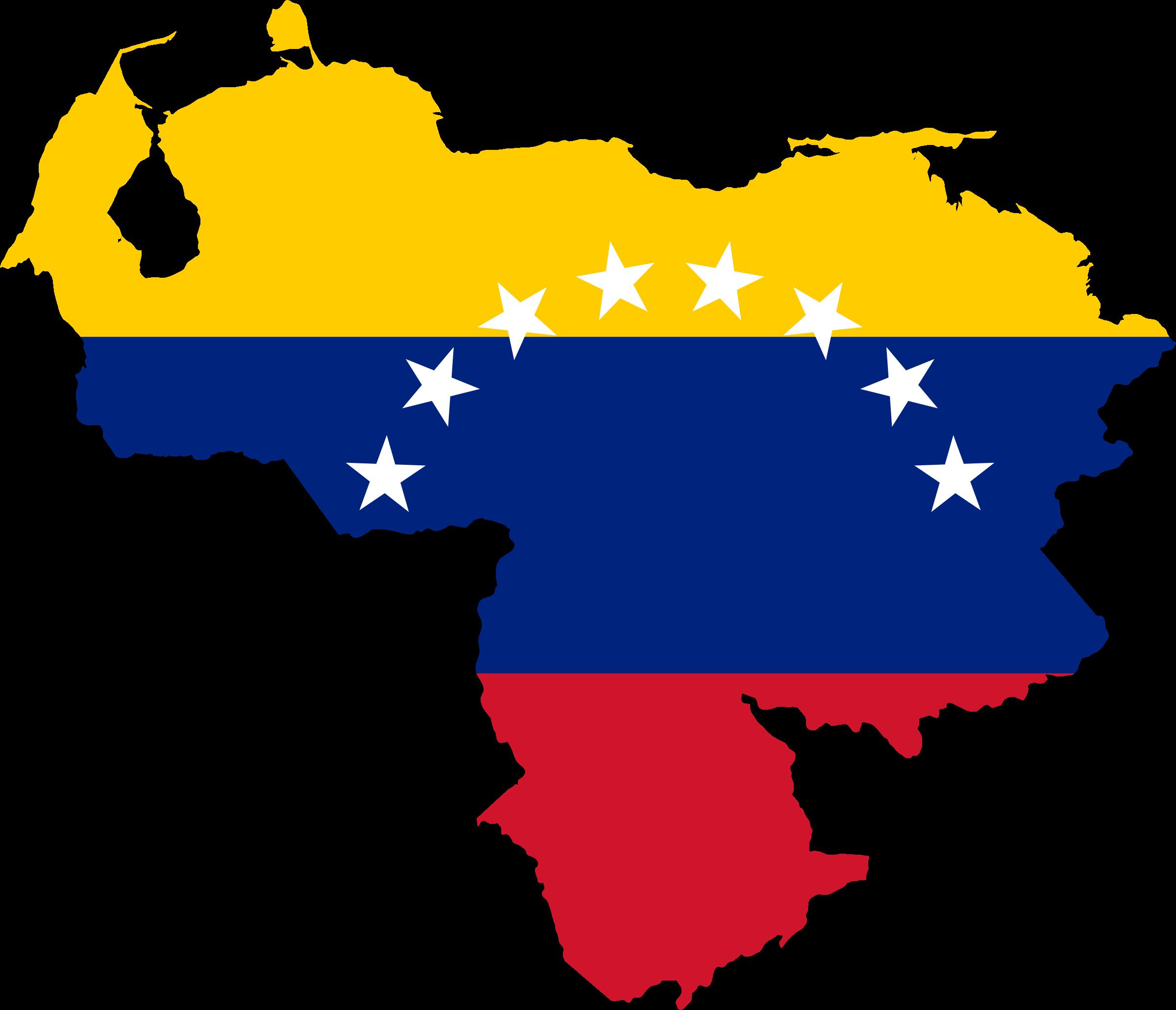 Clipart - Venezuela Flag Map