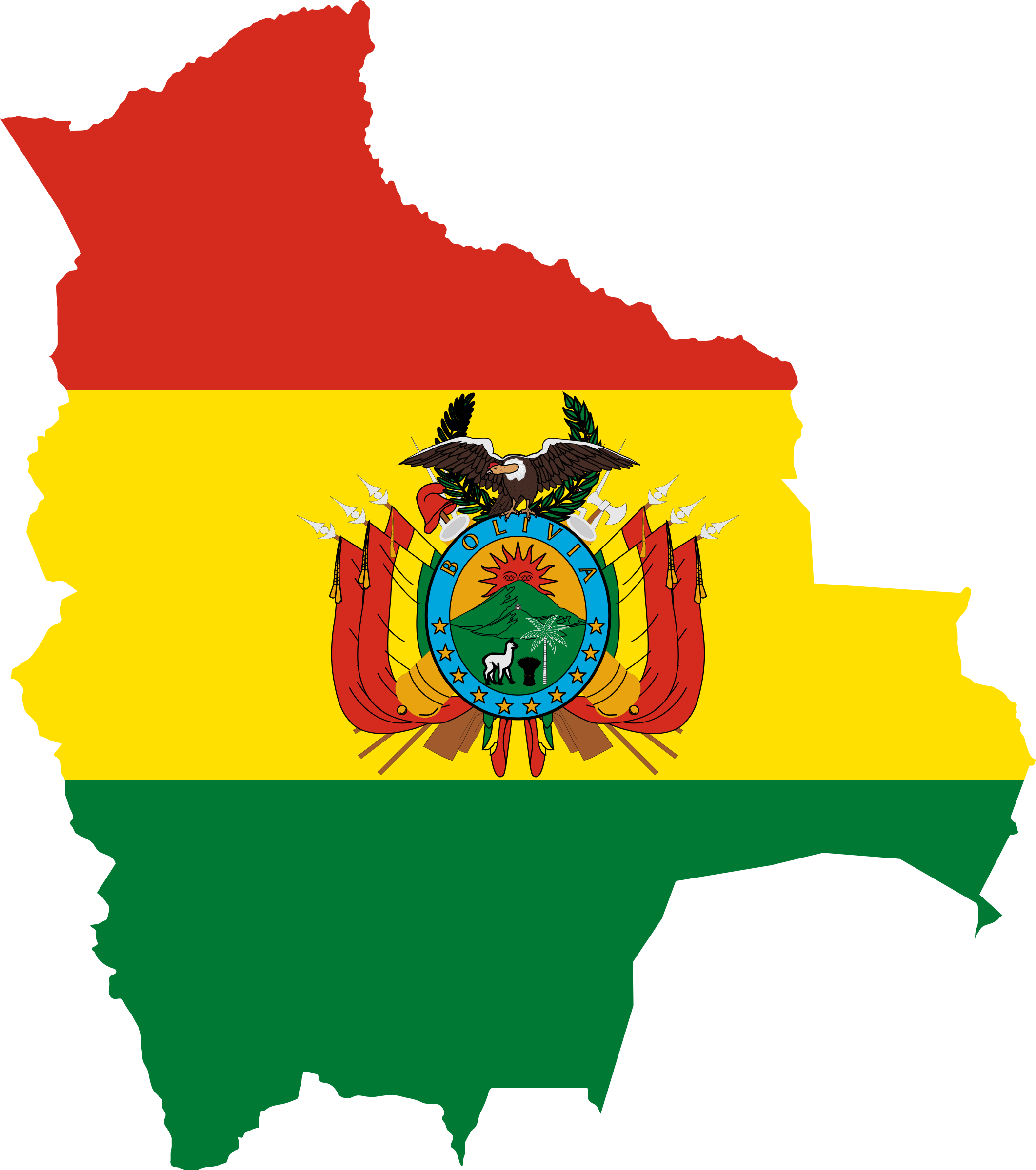 Bolivia Flag Map by GDJ