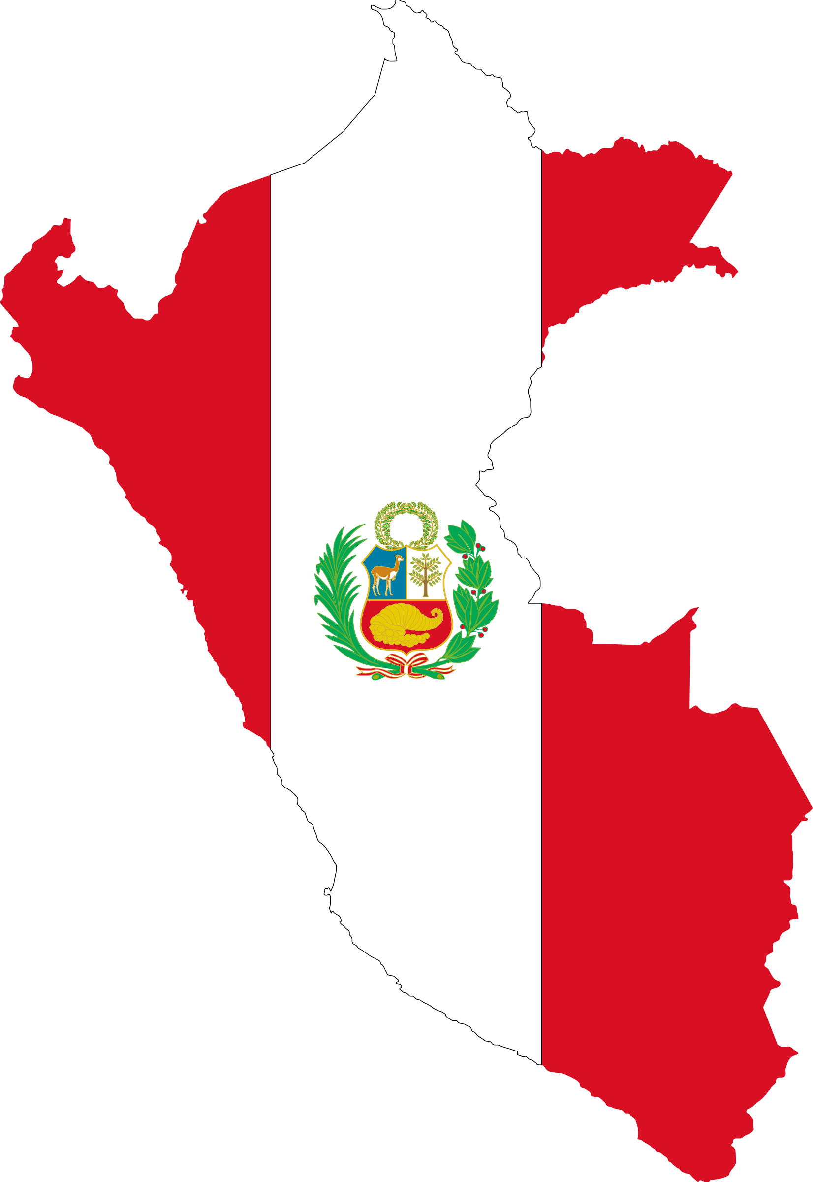 Peru Flag Map by GDJ