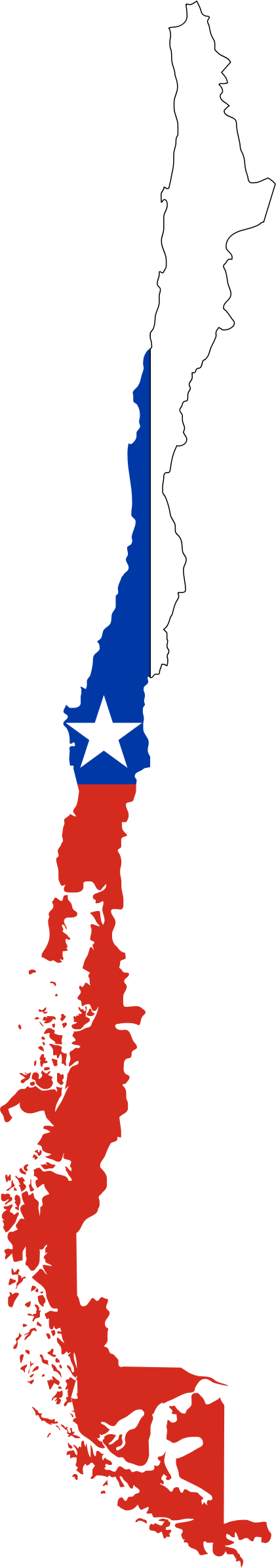 Chile Flag Map by GDJ