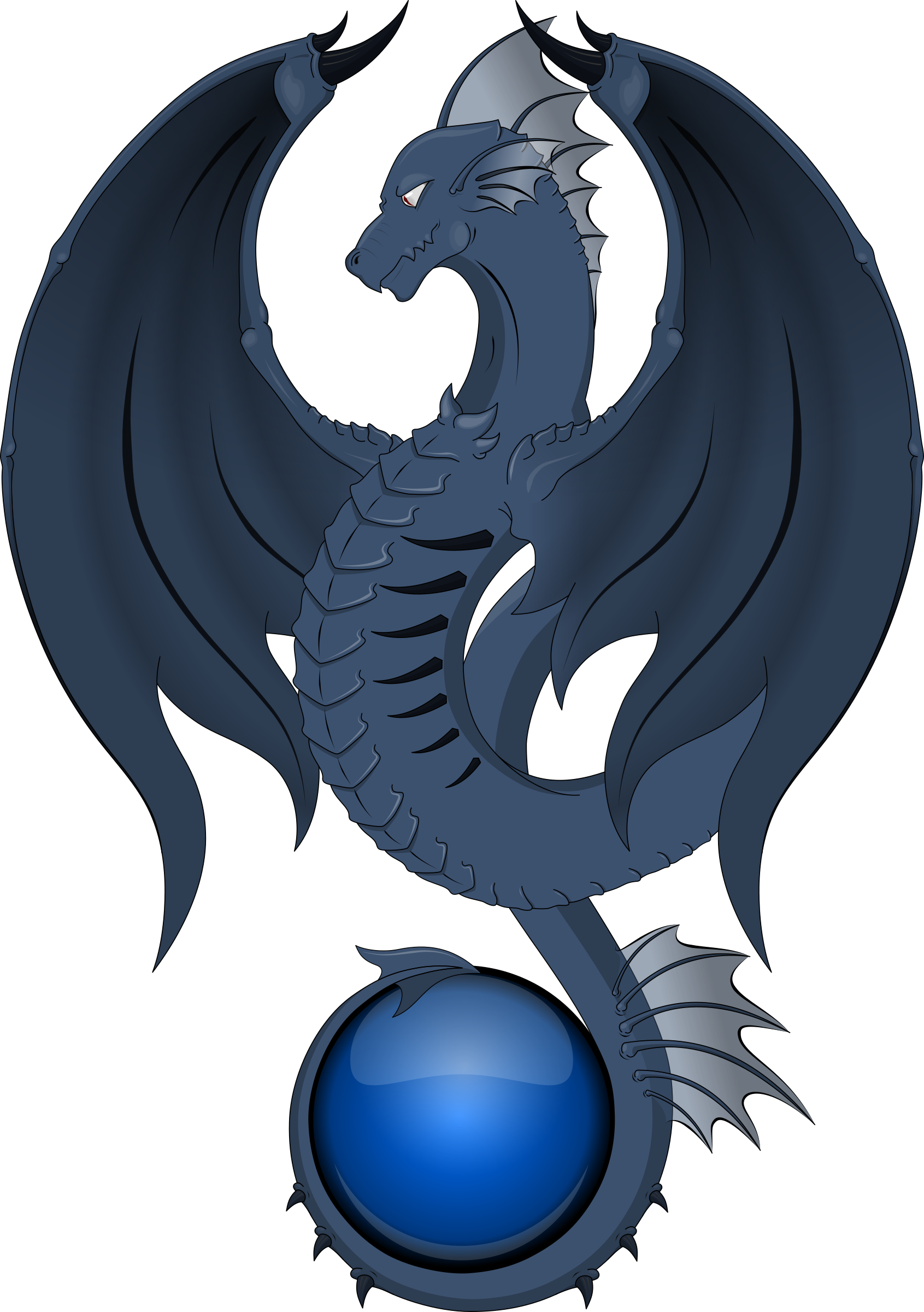 Dragon azul by deiby_ybied