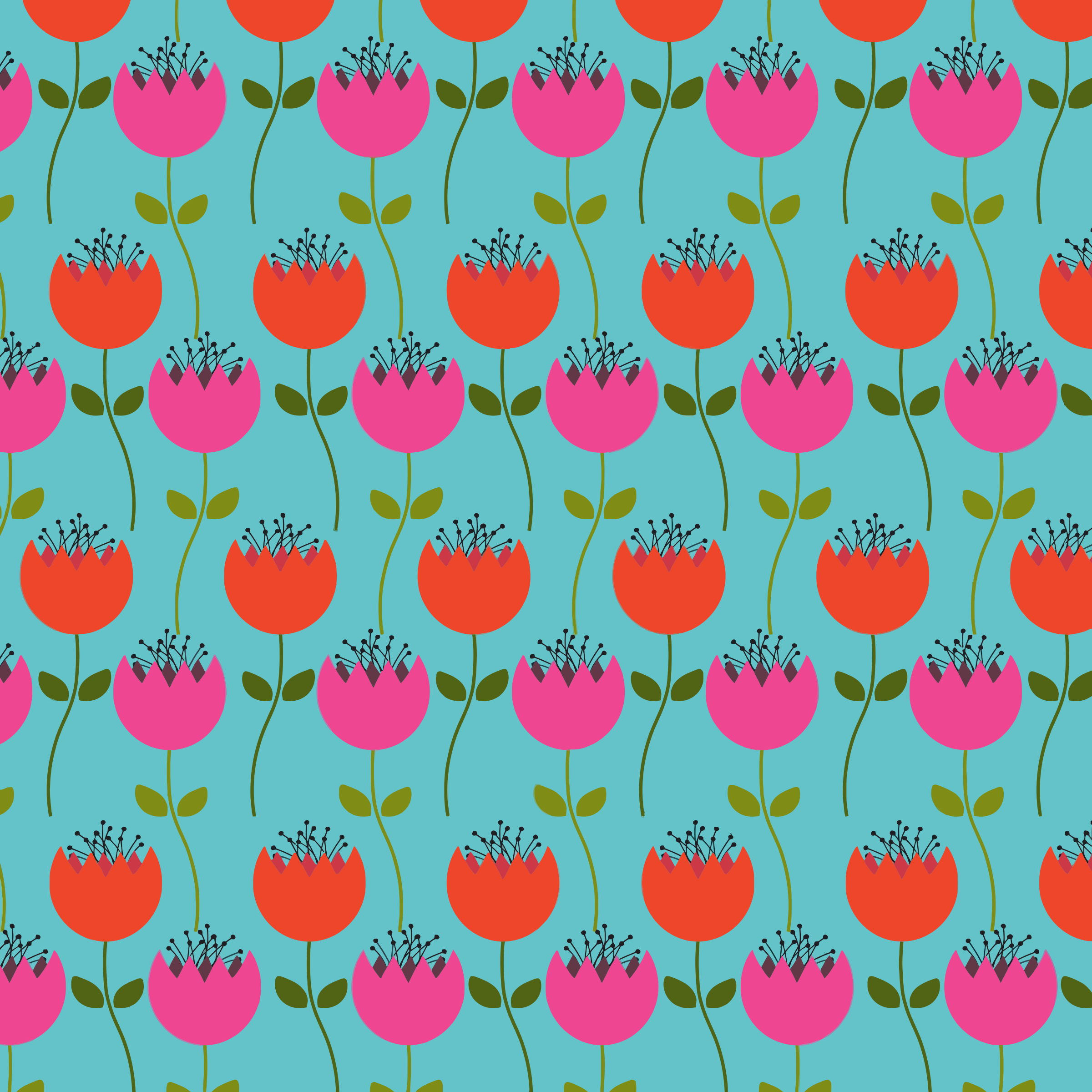Tulips Floral Pattern by GDJ