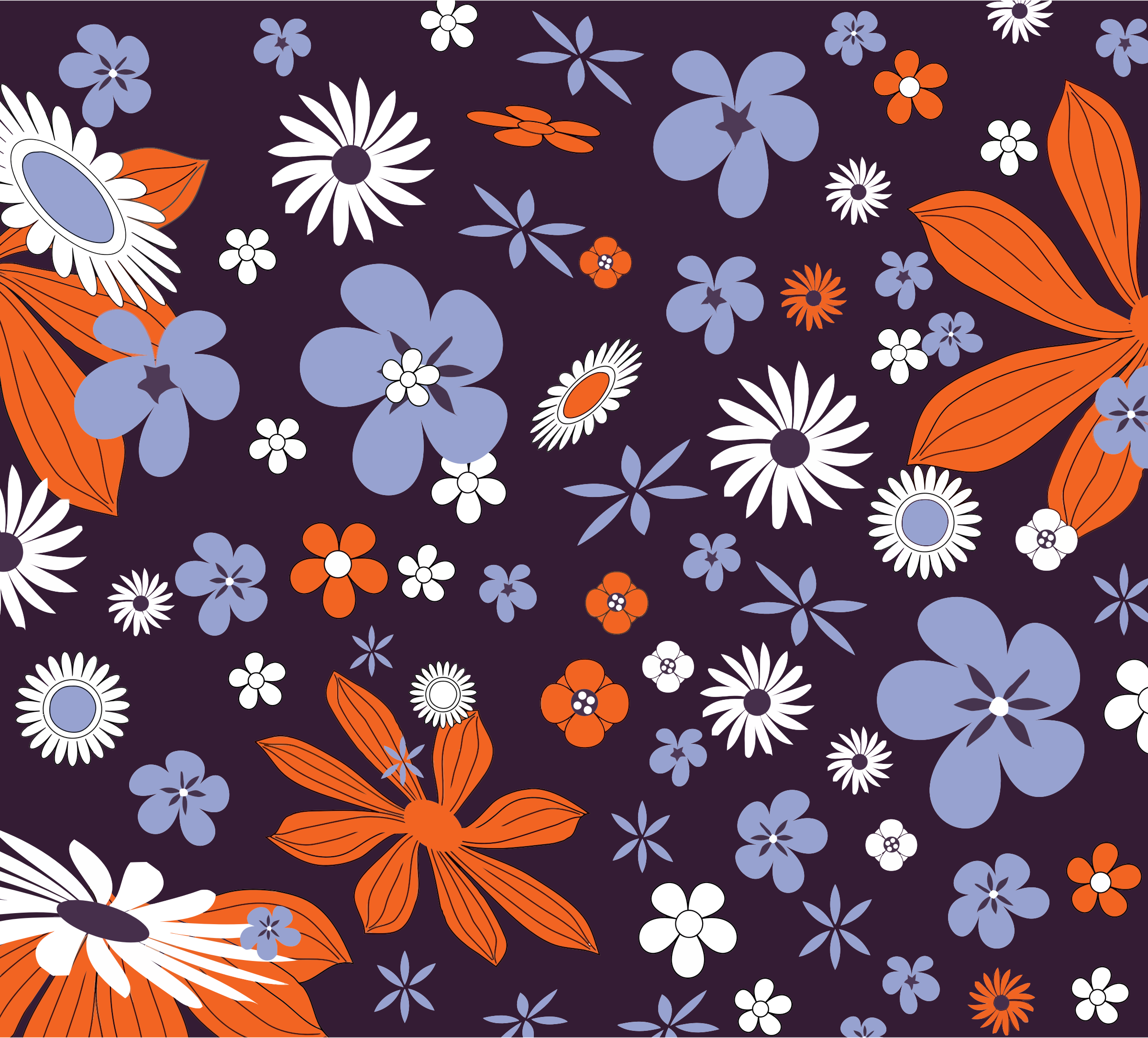 Floral Pattern Background by GDJ