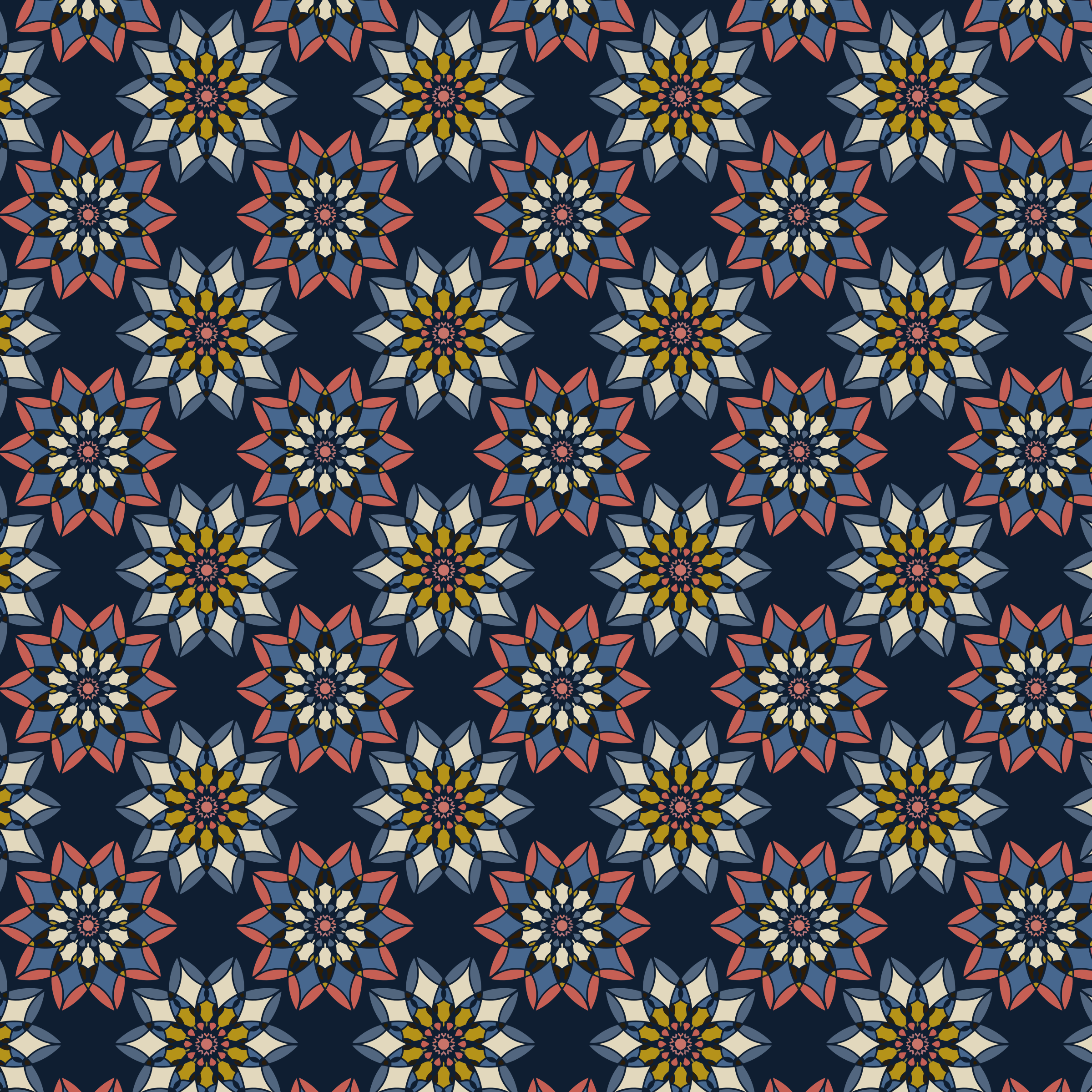 Floral Pattern Background 2 by GDJ