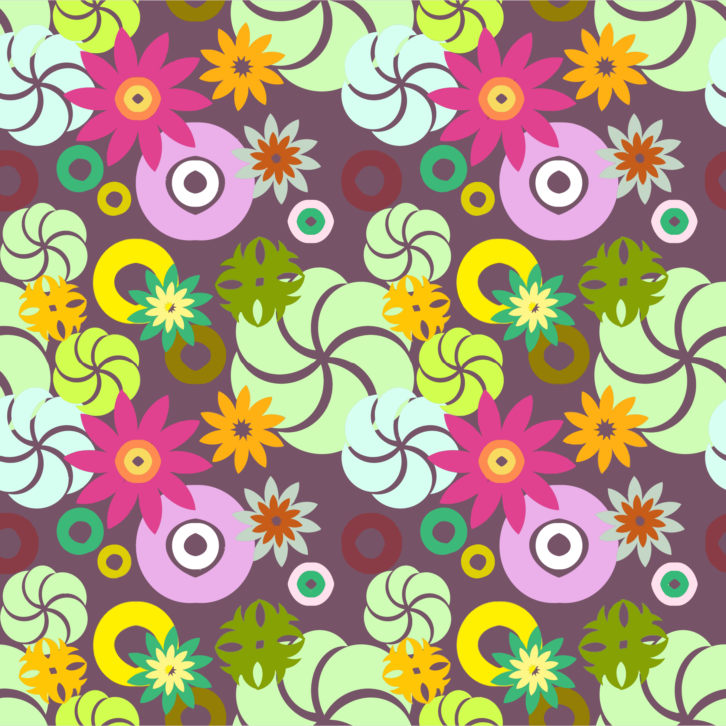 Floral Seamless Pattern 6 by GDJ