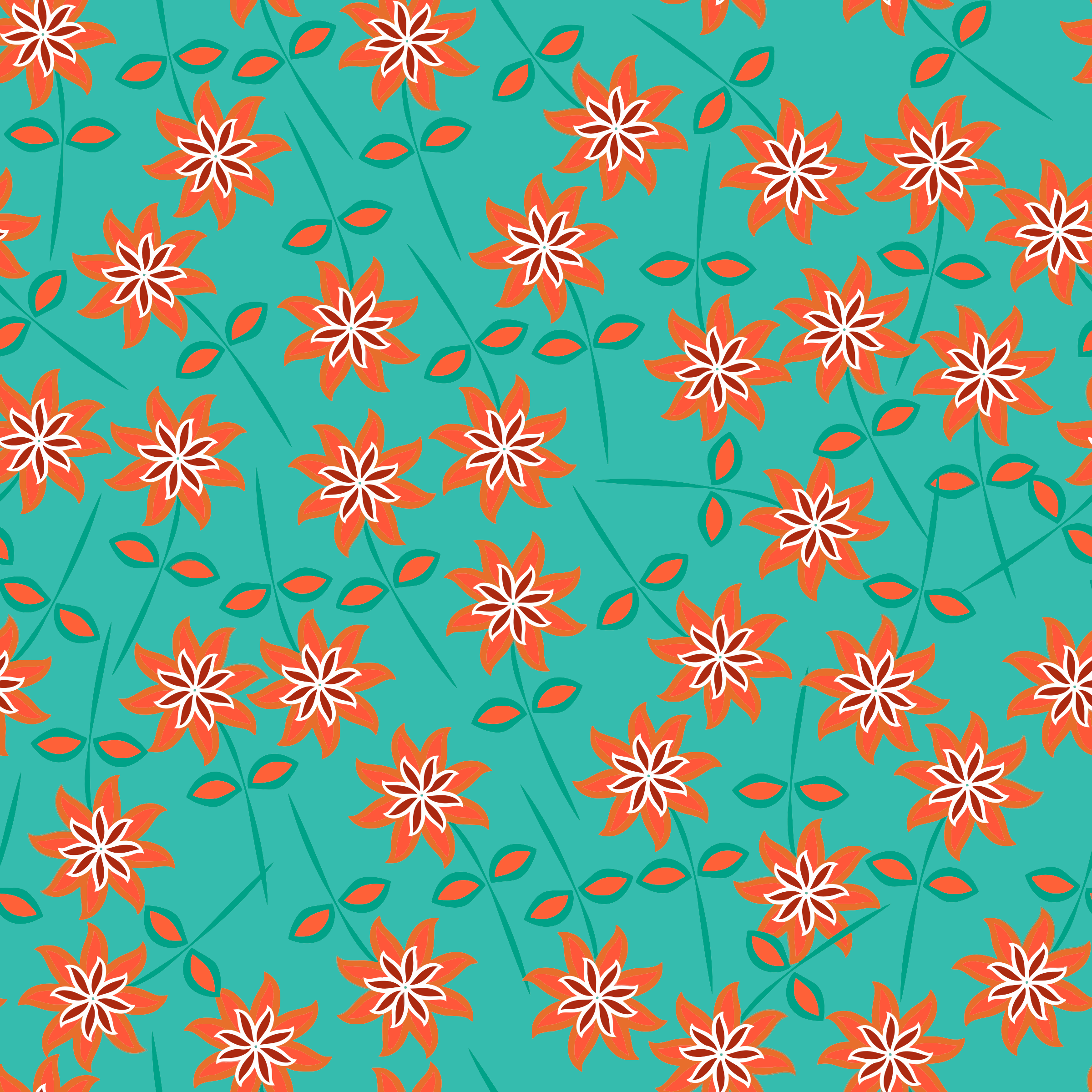 Floral Seamless Pattern 8 by GDJ