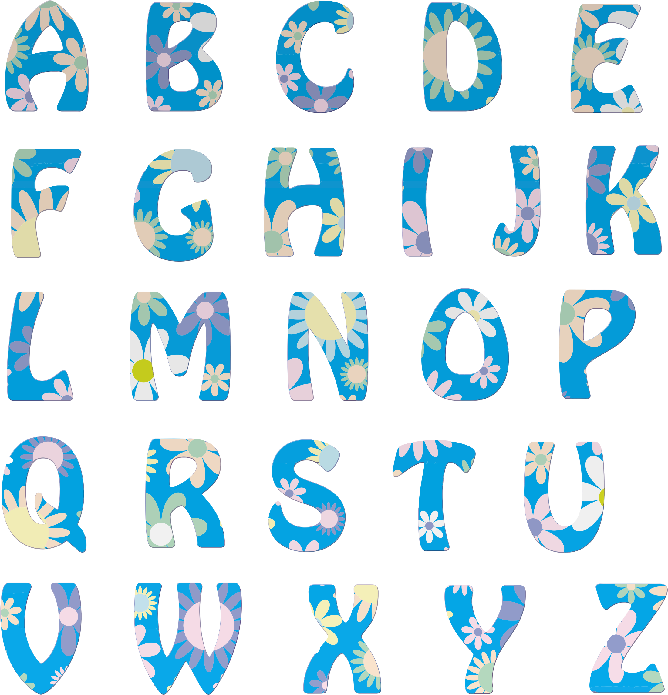 Clipart floral alphabet big image png thecheapjerseys Image collections