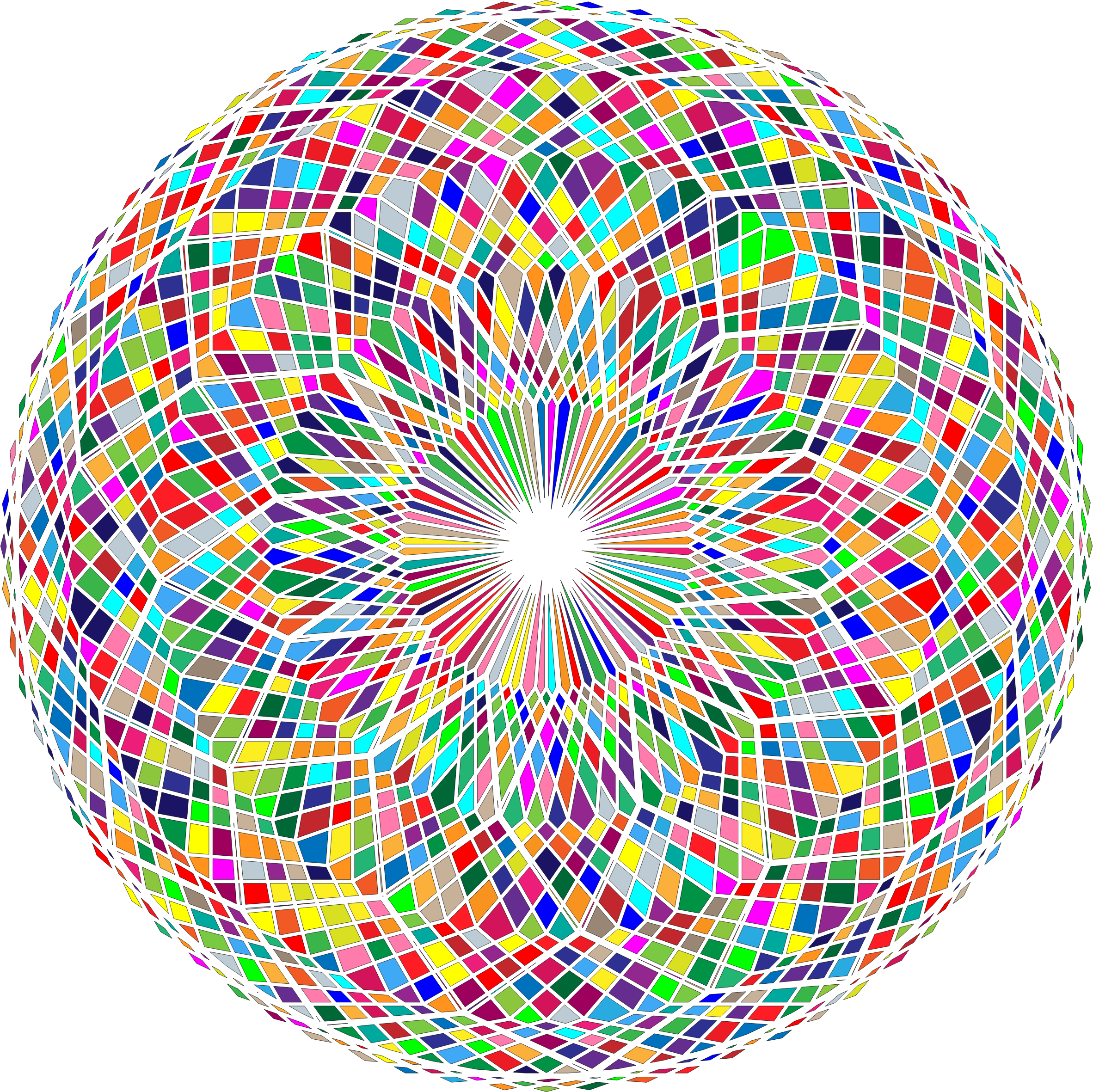 Abstract Circle Colorful Remix by GDJ