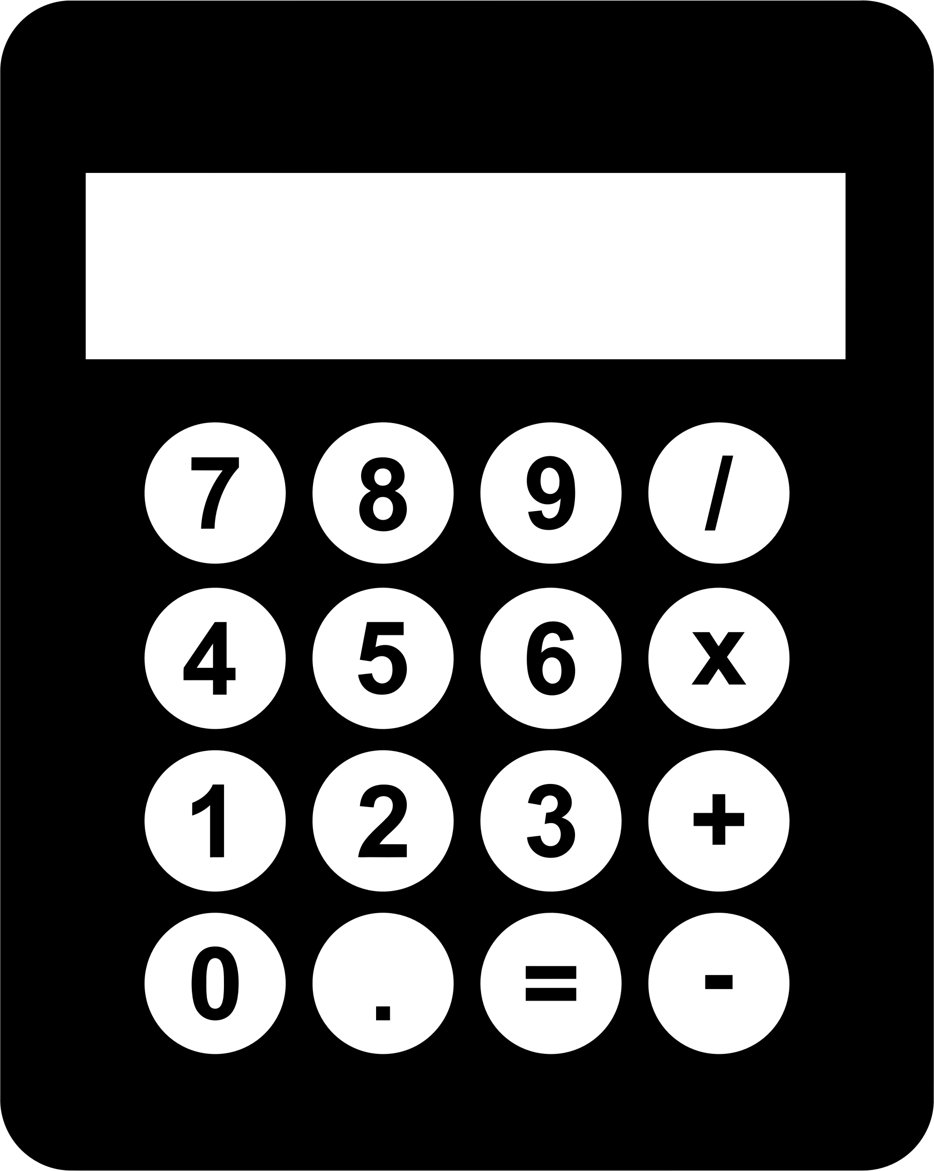 Clip Art Calculator Clip Art clipart black and white calculator big image png