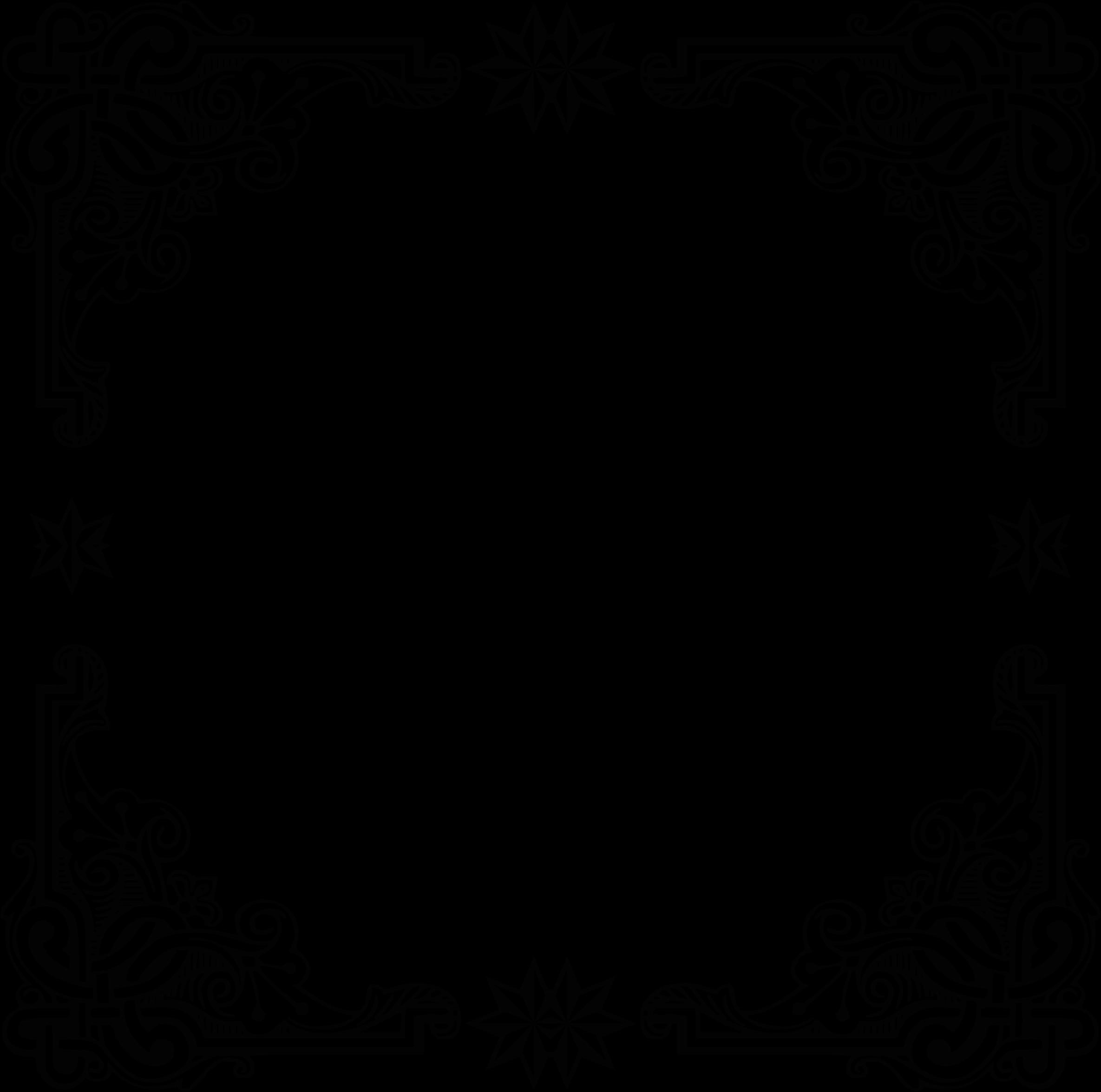 Clipart  Vintage Symmetric Frame