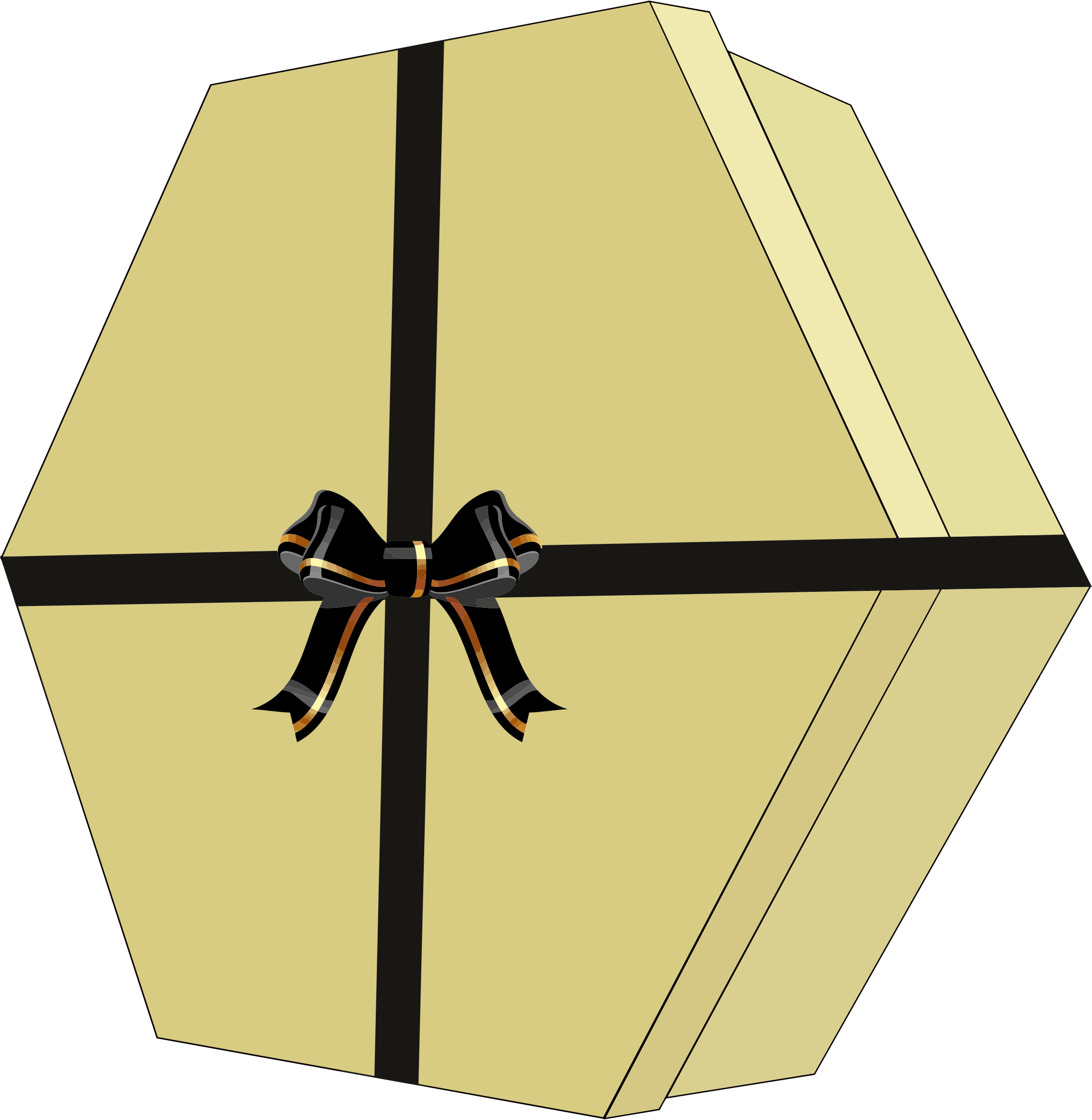 Gift Box with Decorative Bow Ribbon by GDJ