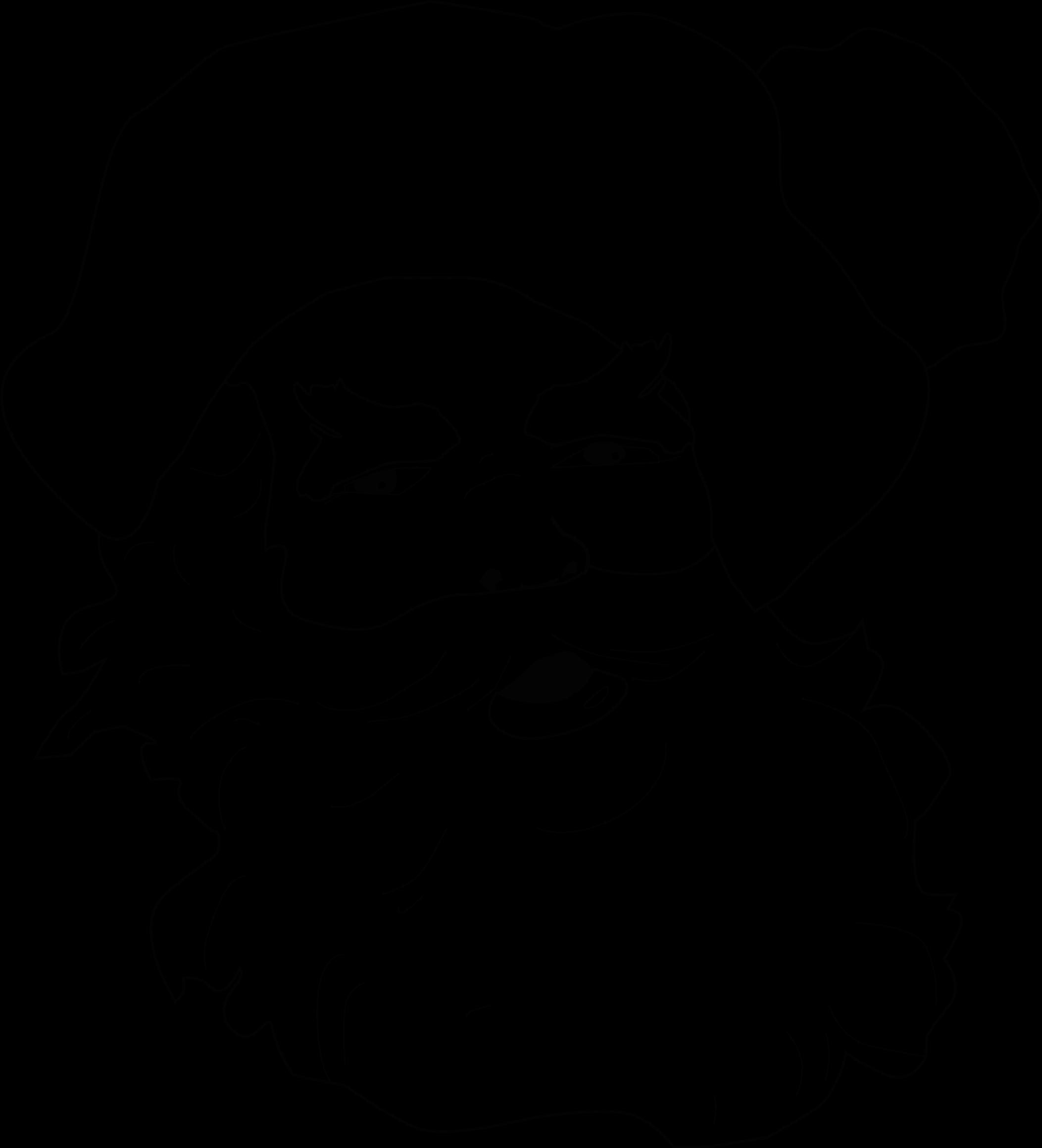 Line Drawing Santa Face : Clipart santa claus face line art