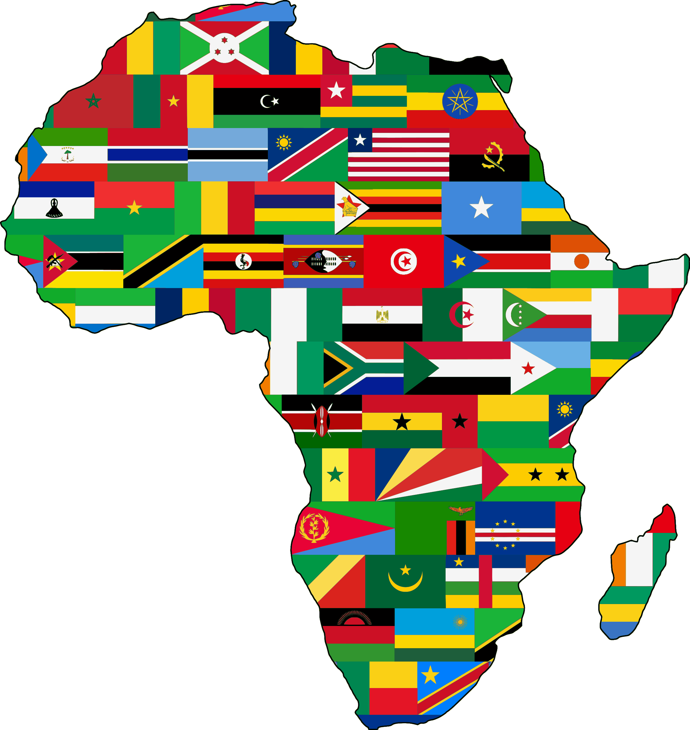 Africa flags by Firkin