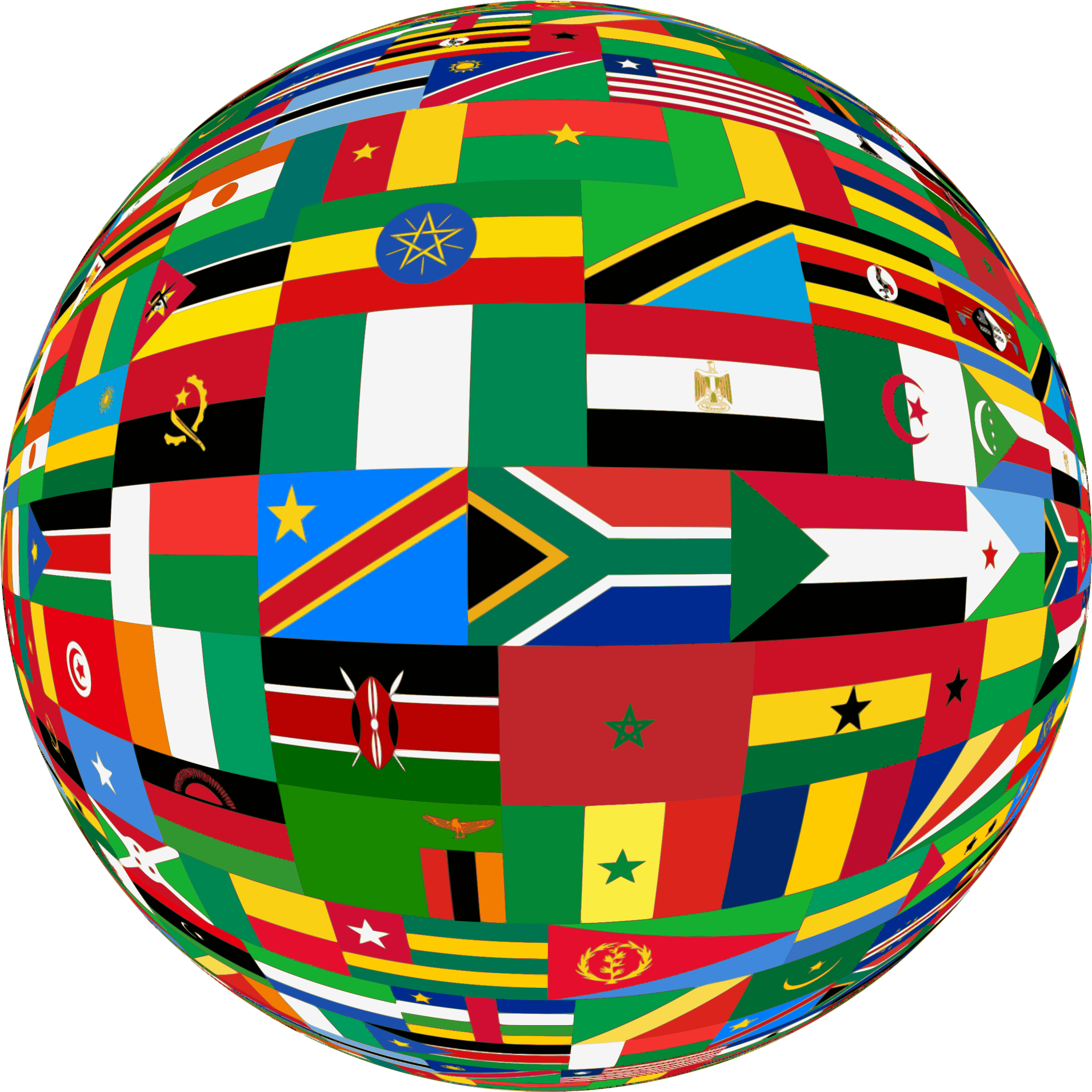 Africa flags sphere by Firkin