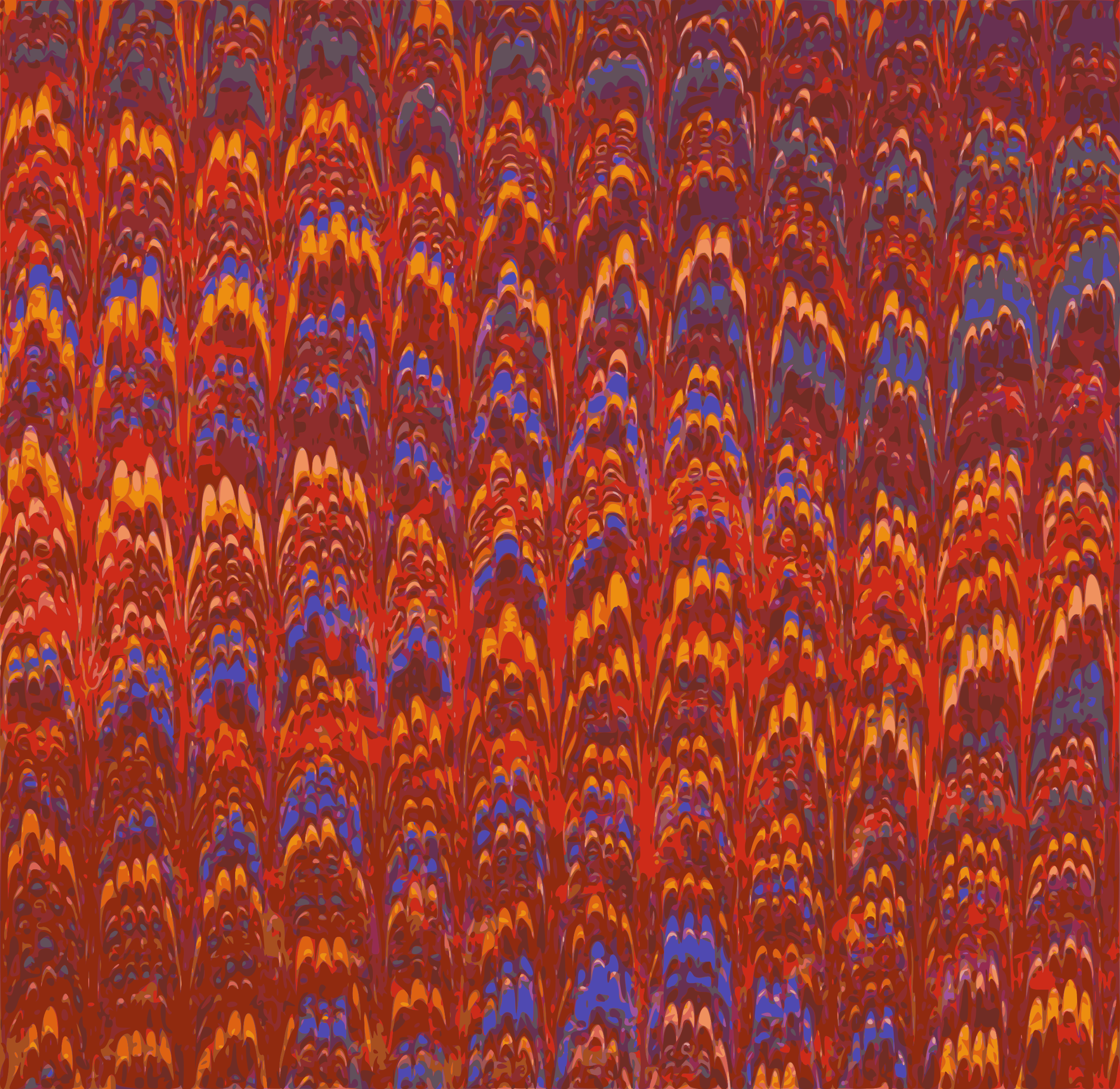Feathery pattern (colour) by Firkin