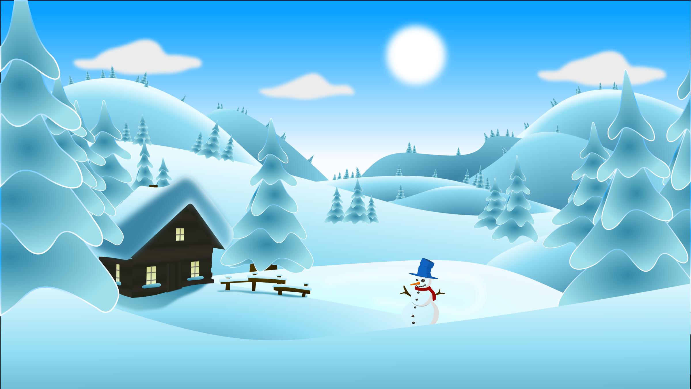 Winter Landscape Stockillustration 124193761 - Shutterstock