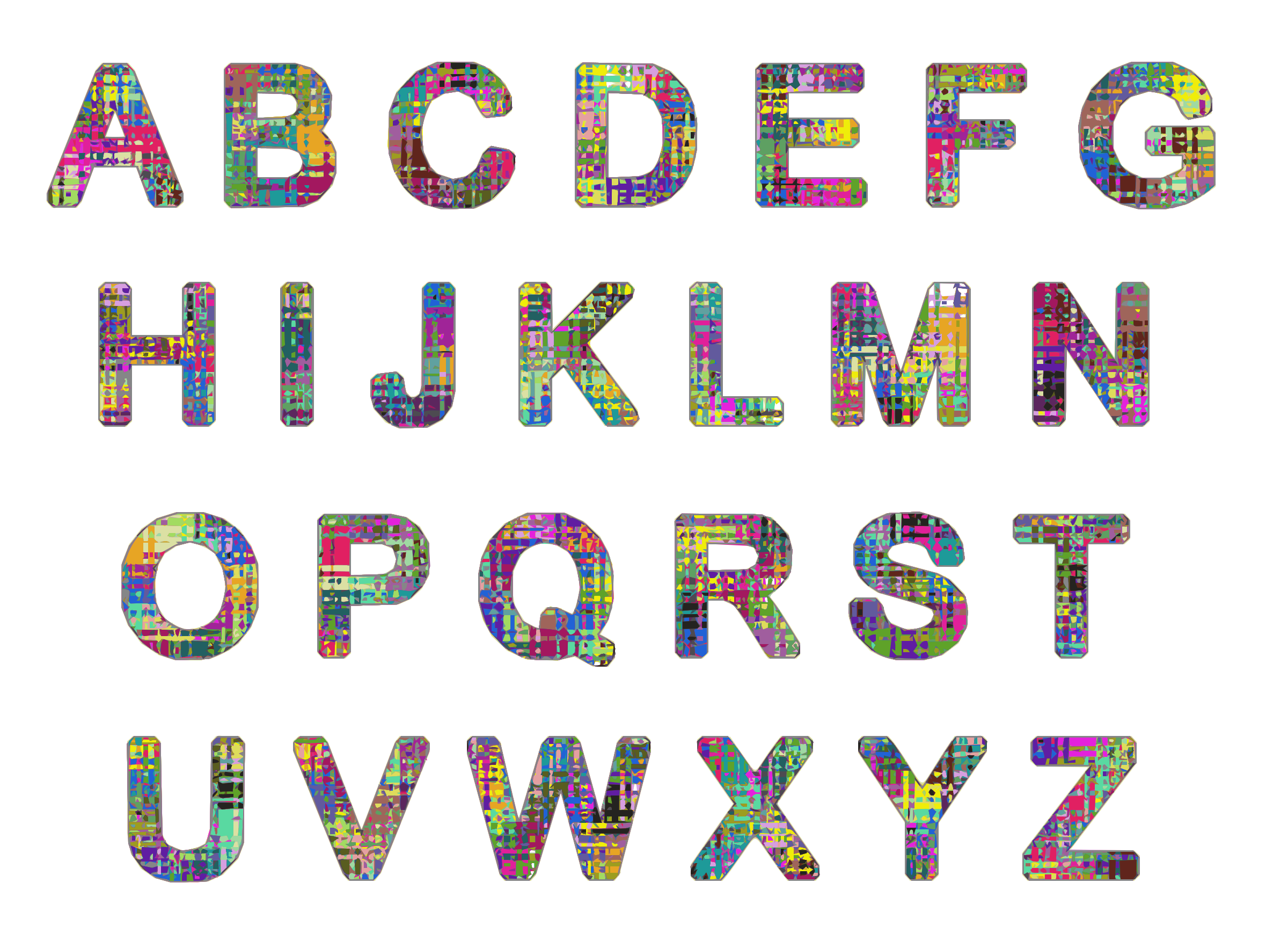 Alphabet 1 by Firkin