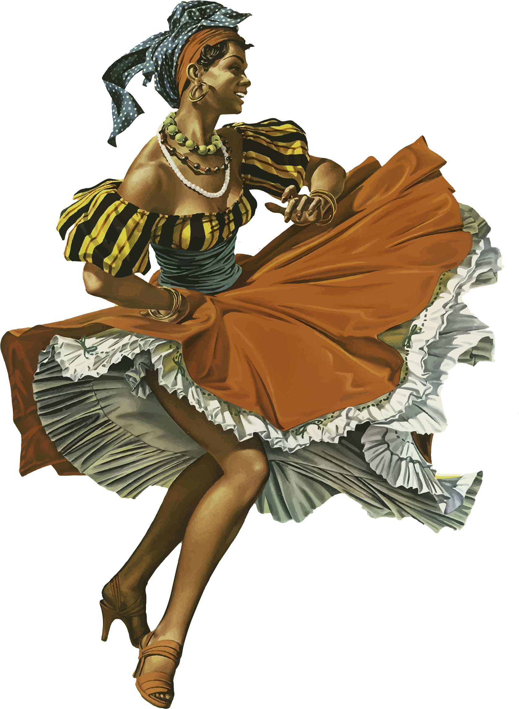 Vintage Caribbean Dancing Woman by GDJ