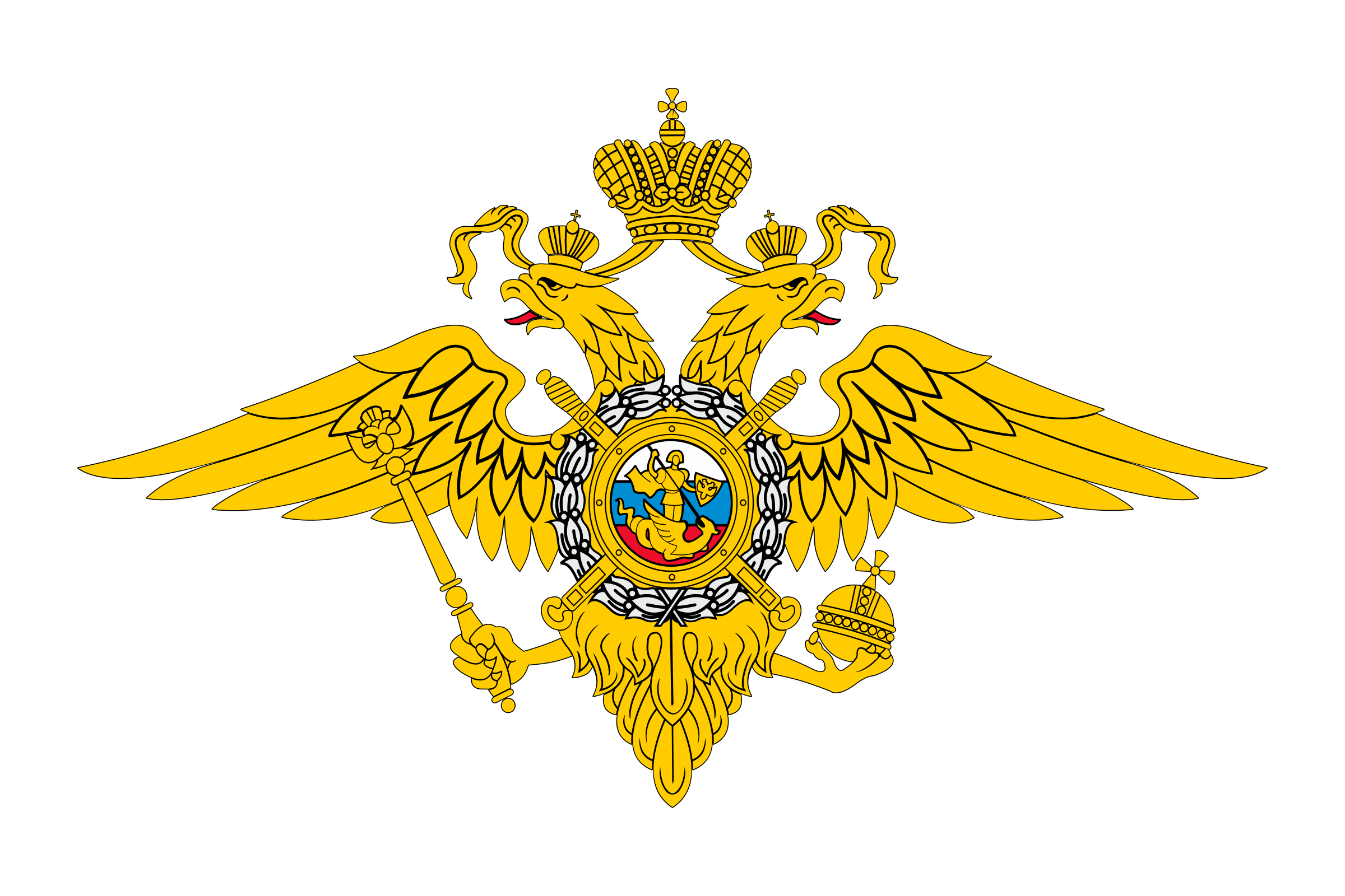 Emblem of the Russian Ministry of Internal Affairs by usr_share