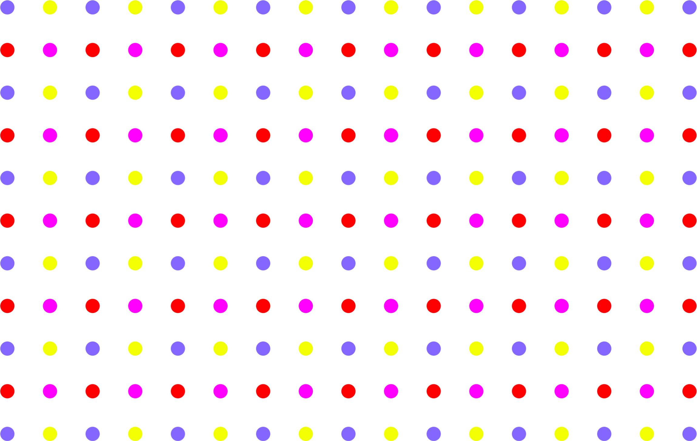 Seamless Colorful Sparse Polka Dot Pattern by GDJ