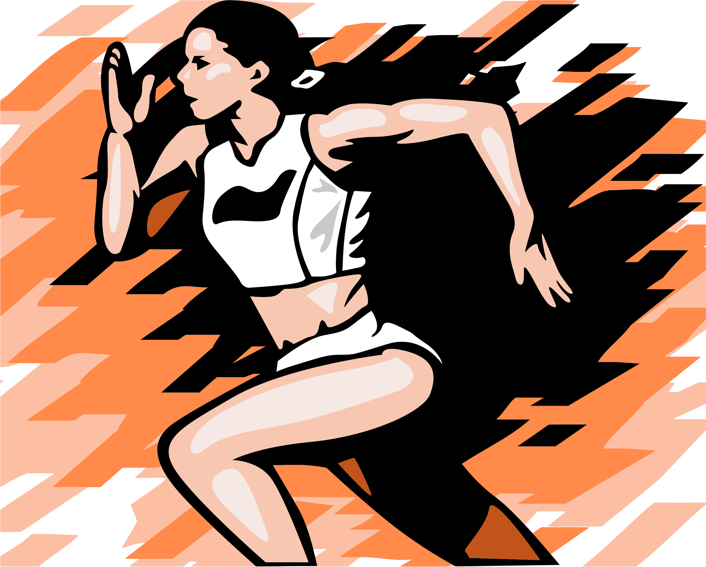Female Runner Illustration by GDJ