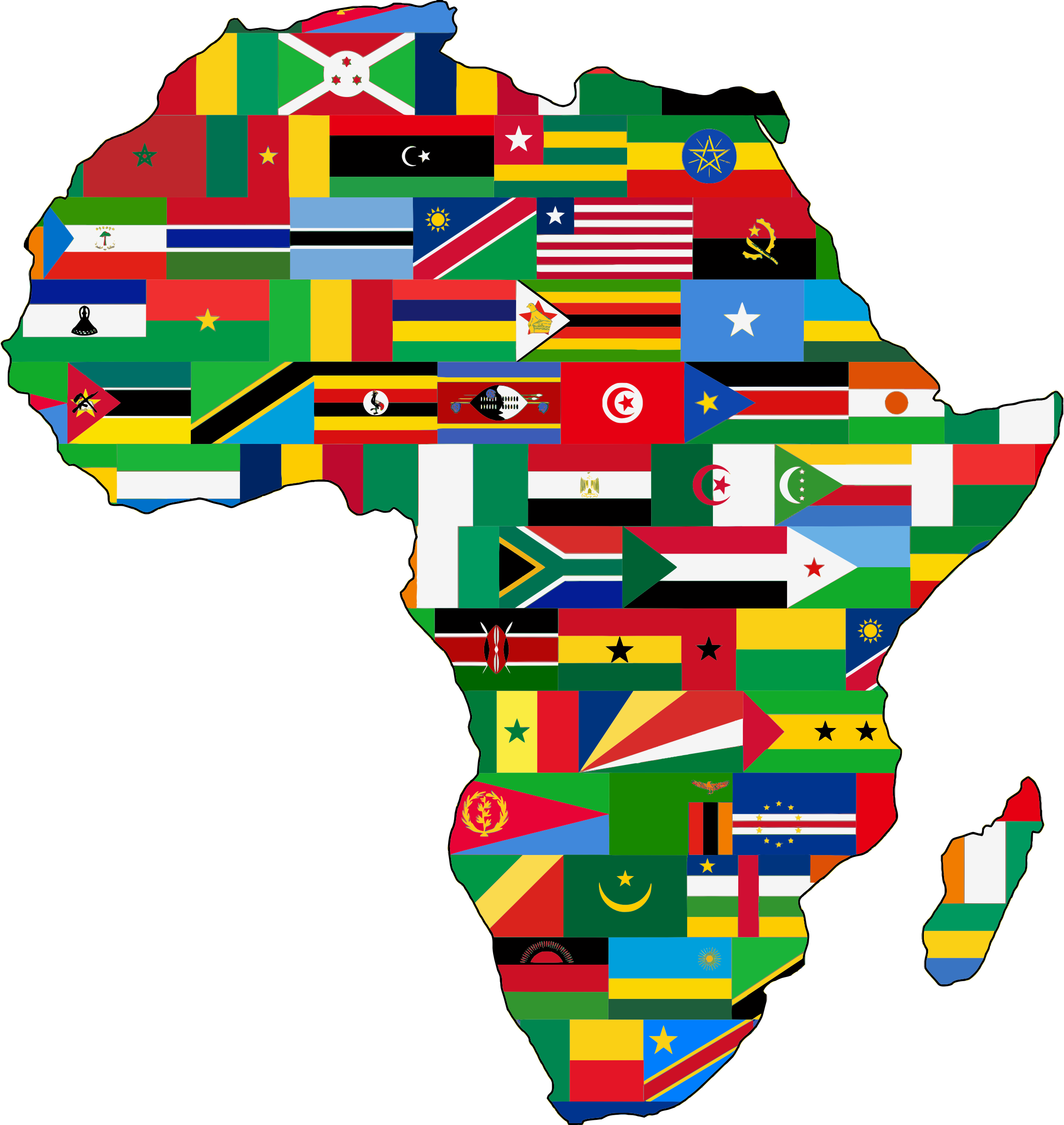 Africa Flags Slimmed Down by GDJ